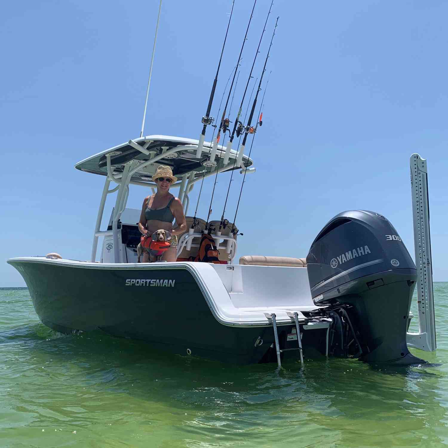 Title: A Shark on the Water - On board their Sportsman Heritage 241 Center Console - Location: St. George Island Florida. Participating in the Photo Contest #SportsmanAugust2020