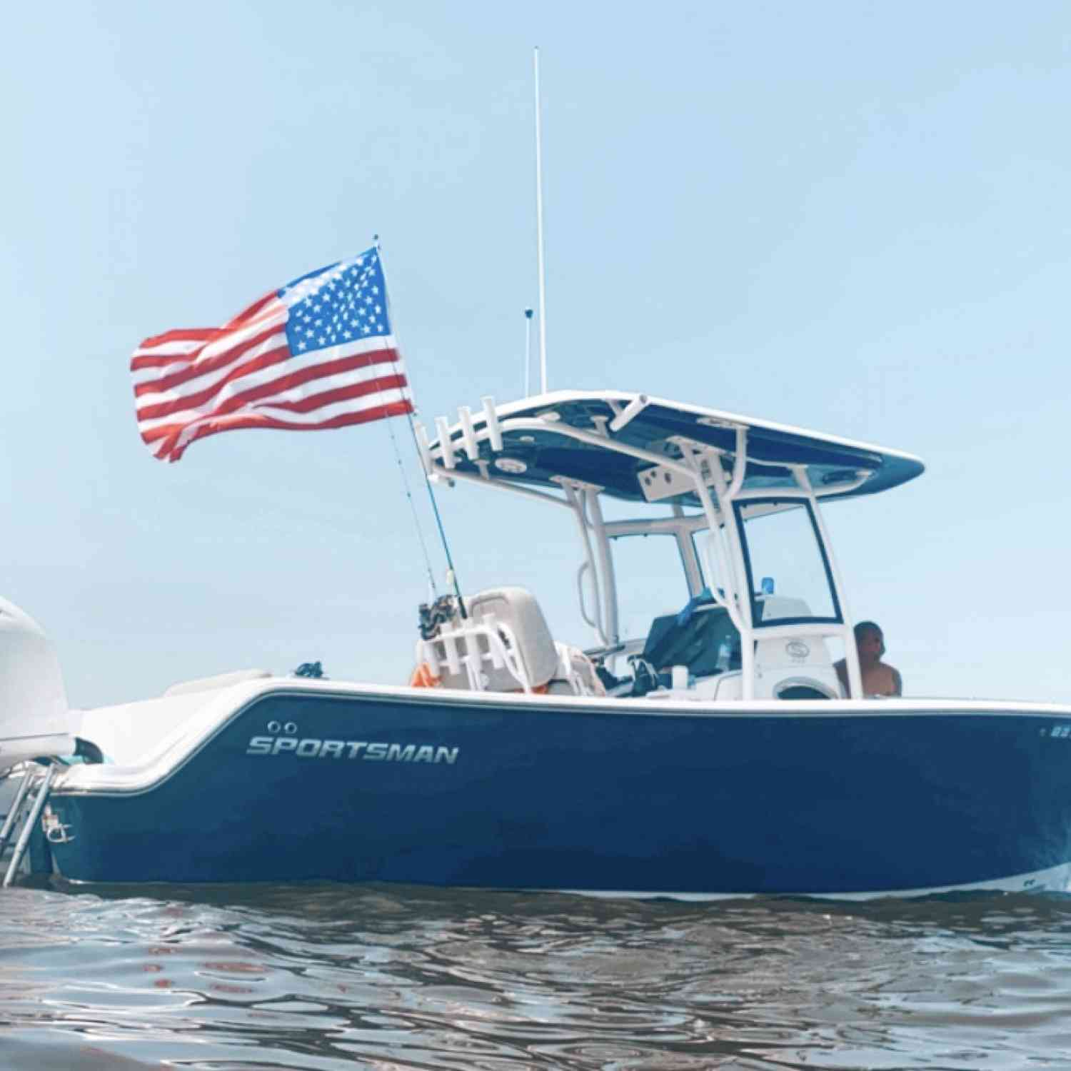 Title: America - On board their Sportsman Open 252 Center Console - Location: Queenstown Md. Participating in the Photo Contest #SportsmanAugust2020