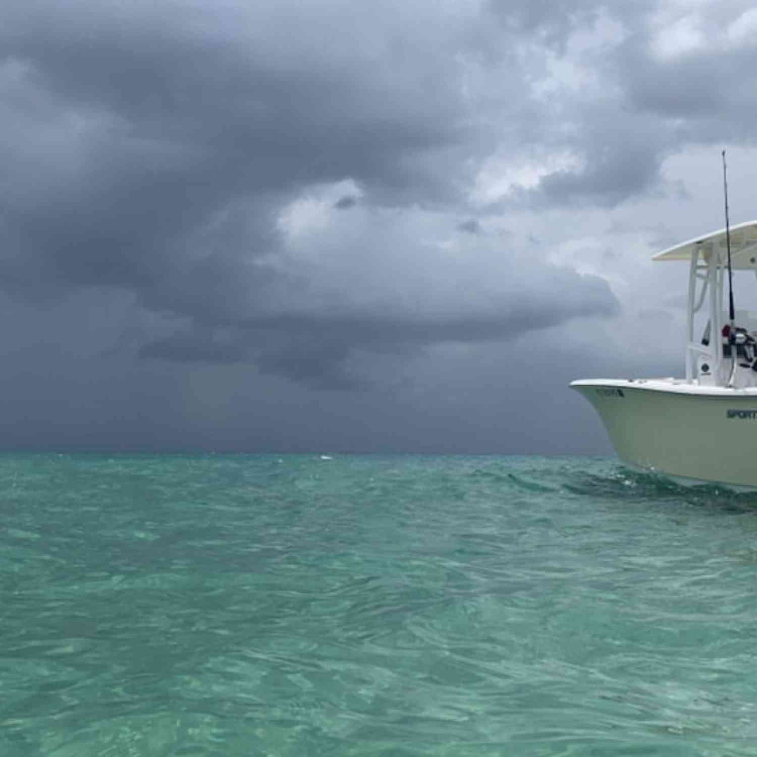 Title: Dark sky's clear water - On board their Sportsman Heritage 231 Center Console - Location: Boynton beach FL. Participating in the Photo Contest #SportsmanAugust2020