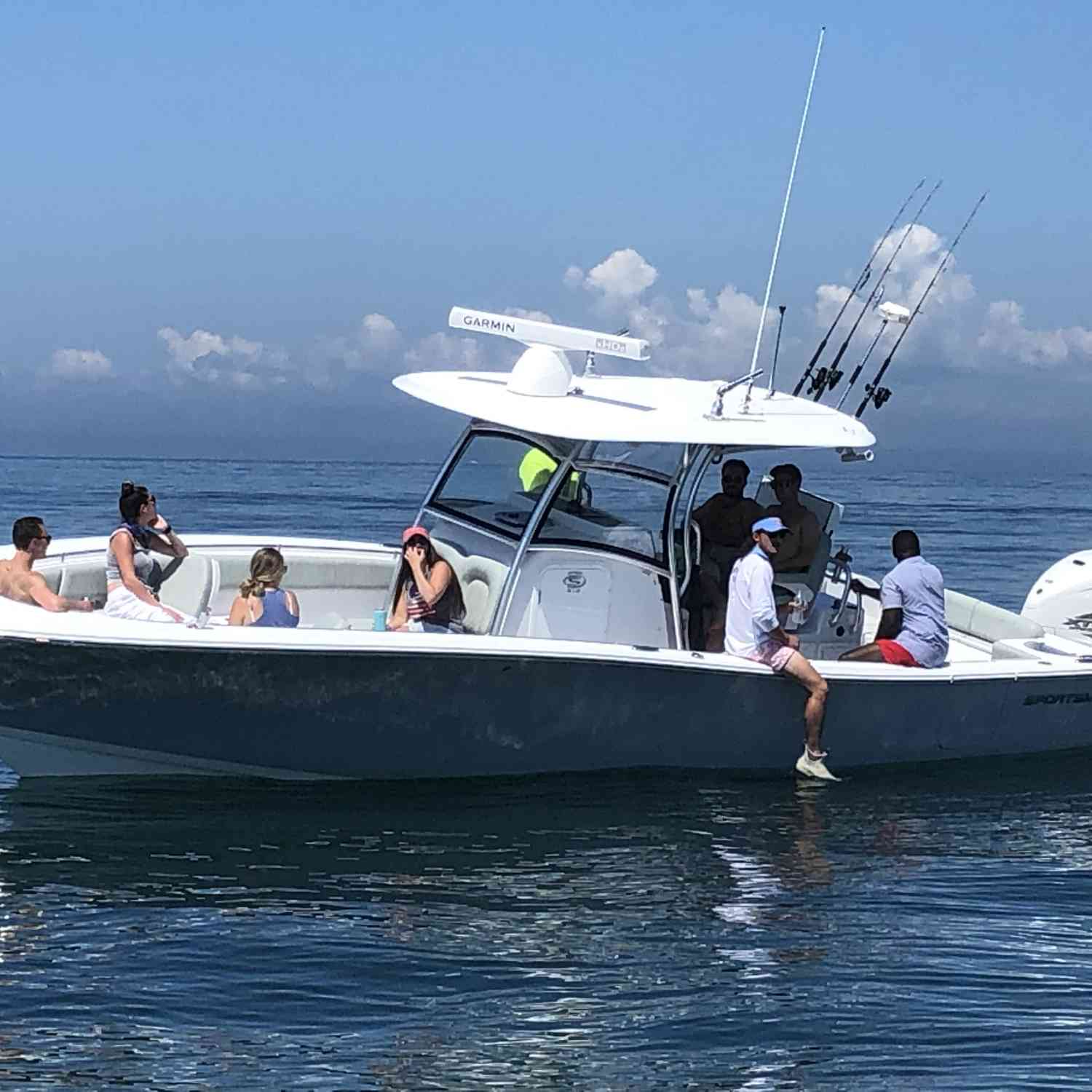Title: Headed to the beach - On board their Sportsman Open 312 Center Console - Location: Robinsons hole. Participating in the Photo Contest #SportsmanAugust2020