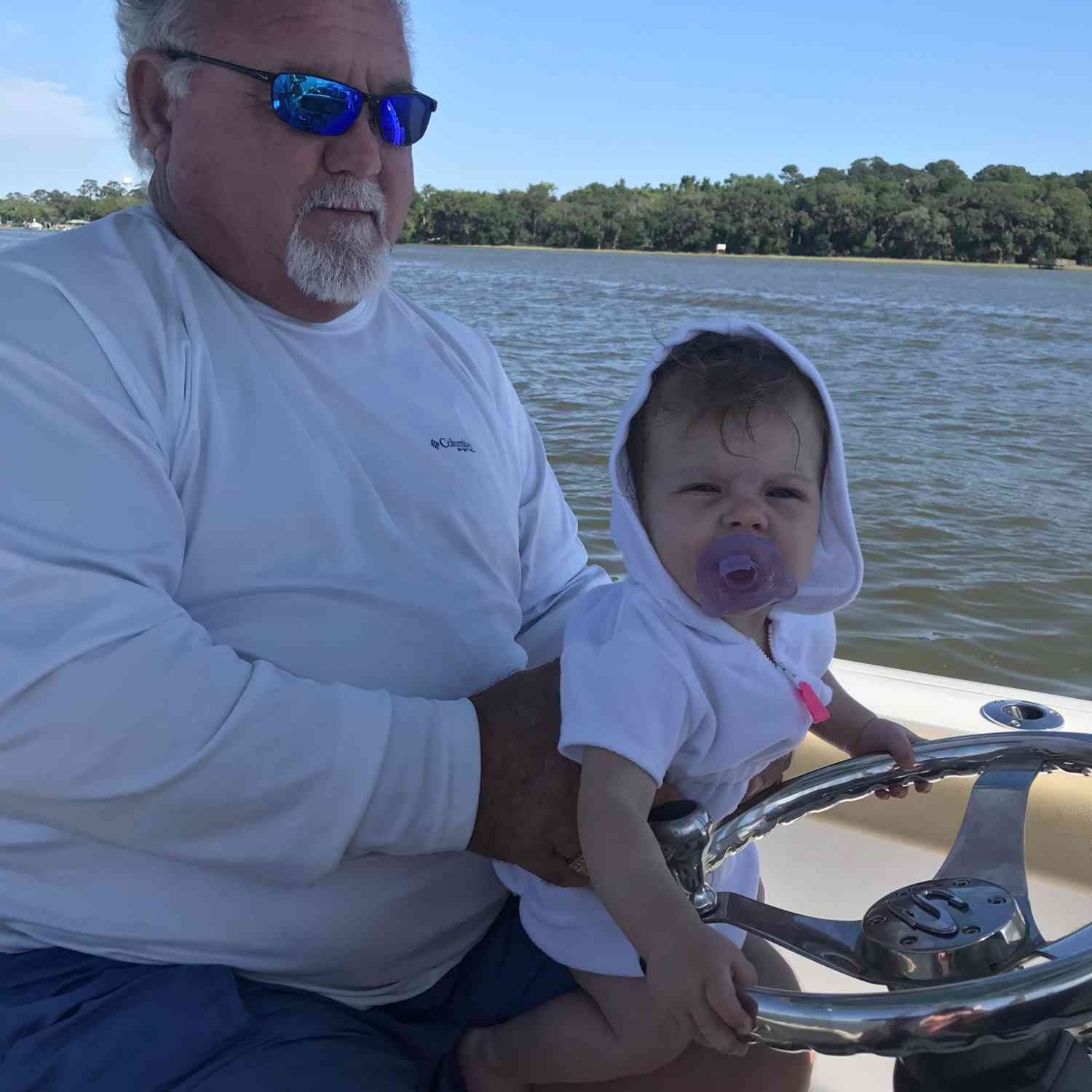 Title: Grand baby weekend. - On board their Sportsman Heritage 231 Center Console - Location: Wilmington River, Savannah, Ga.. Participating in the Photo Contest #SportsmanAugust2020
