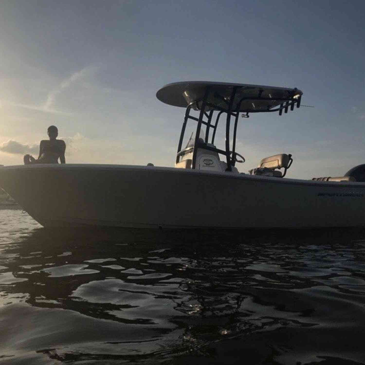 Title: Sunset - On board their Sportsman Heritage 211 Center Console - Location: Charleston, SC. Participating in the Photo Contest #SportsmanAugust2020