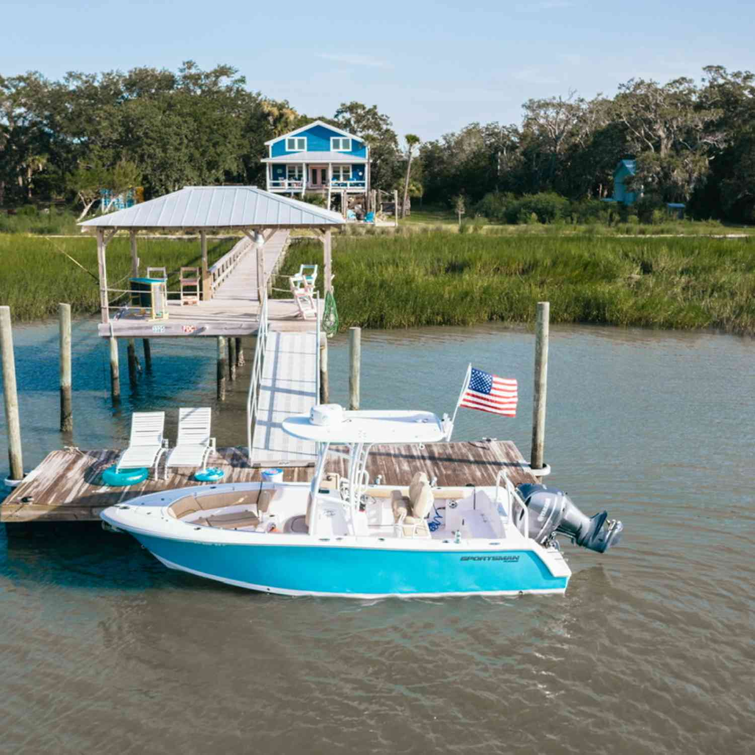 Title: Life on the GOAT - On board their Sportsman Heritage 231 Center Console - Location: Goat Island, SC. Participating in the Photo Contest #SportsmanAugust2020