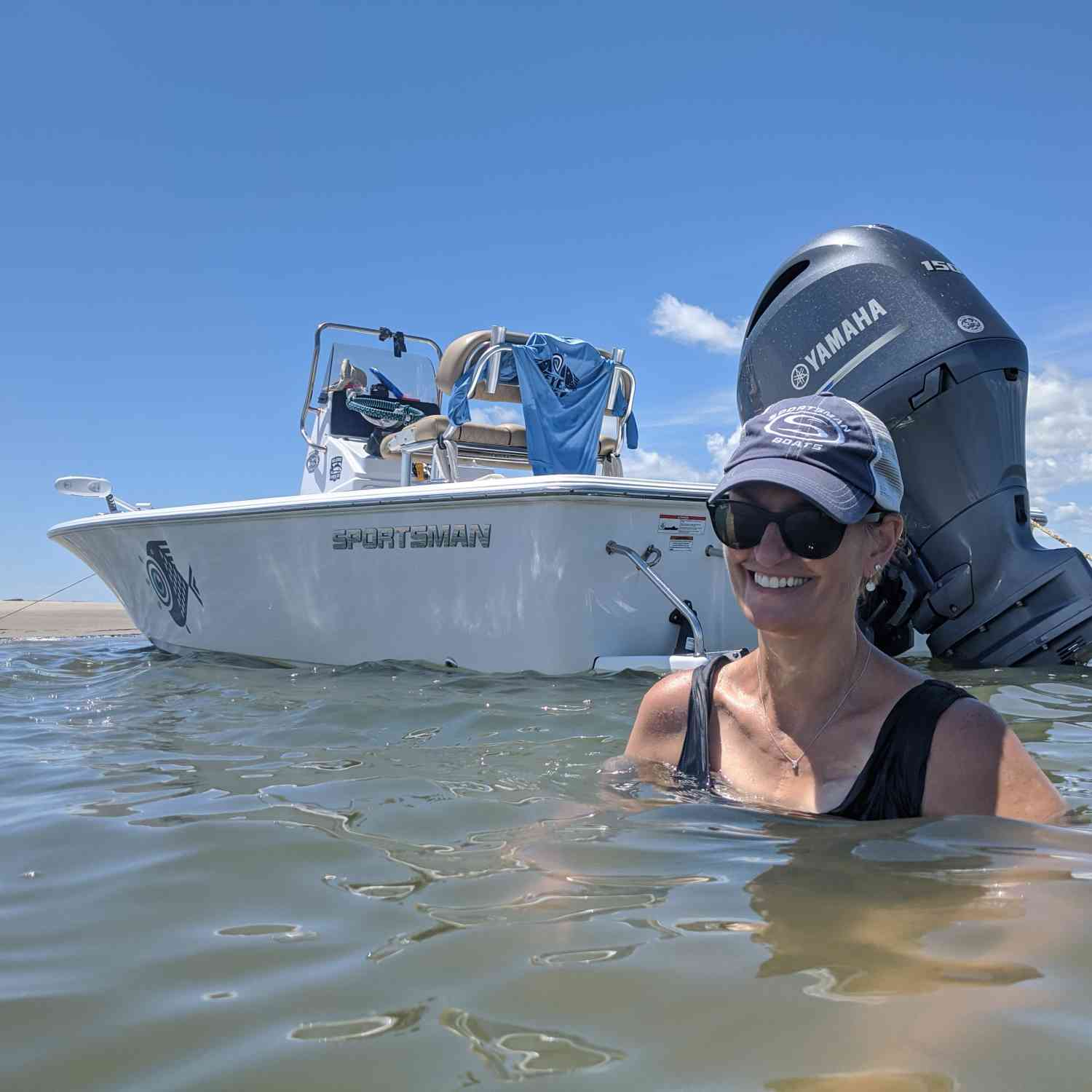 Title: Capers beachin - On board their Sportsman Masters 207 Bay Boat - Location: Capers Island SC. Participating in the Photo Contest #SportsmanAugust2020