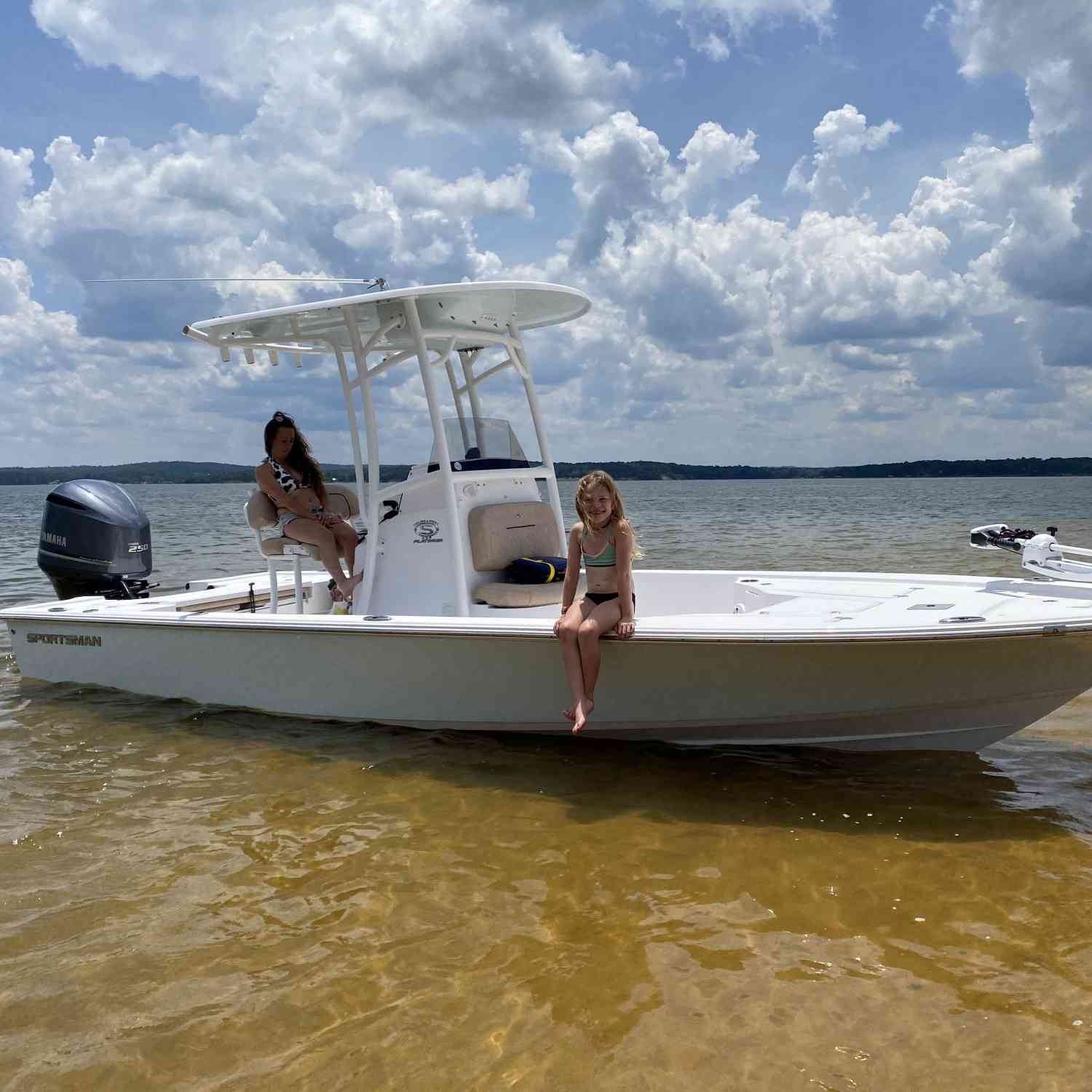 Title: Sportsman Family! - On board their Sportsman Tournament 234 Bay Boat - Location: Lake Walter F. George, Ft Gaines Ga.. Participating in the Photo Contest #SportsmanAugust2020