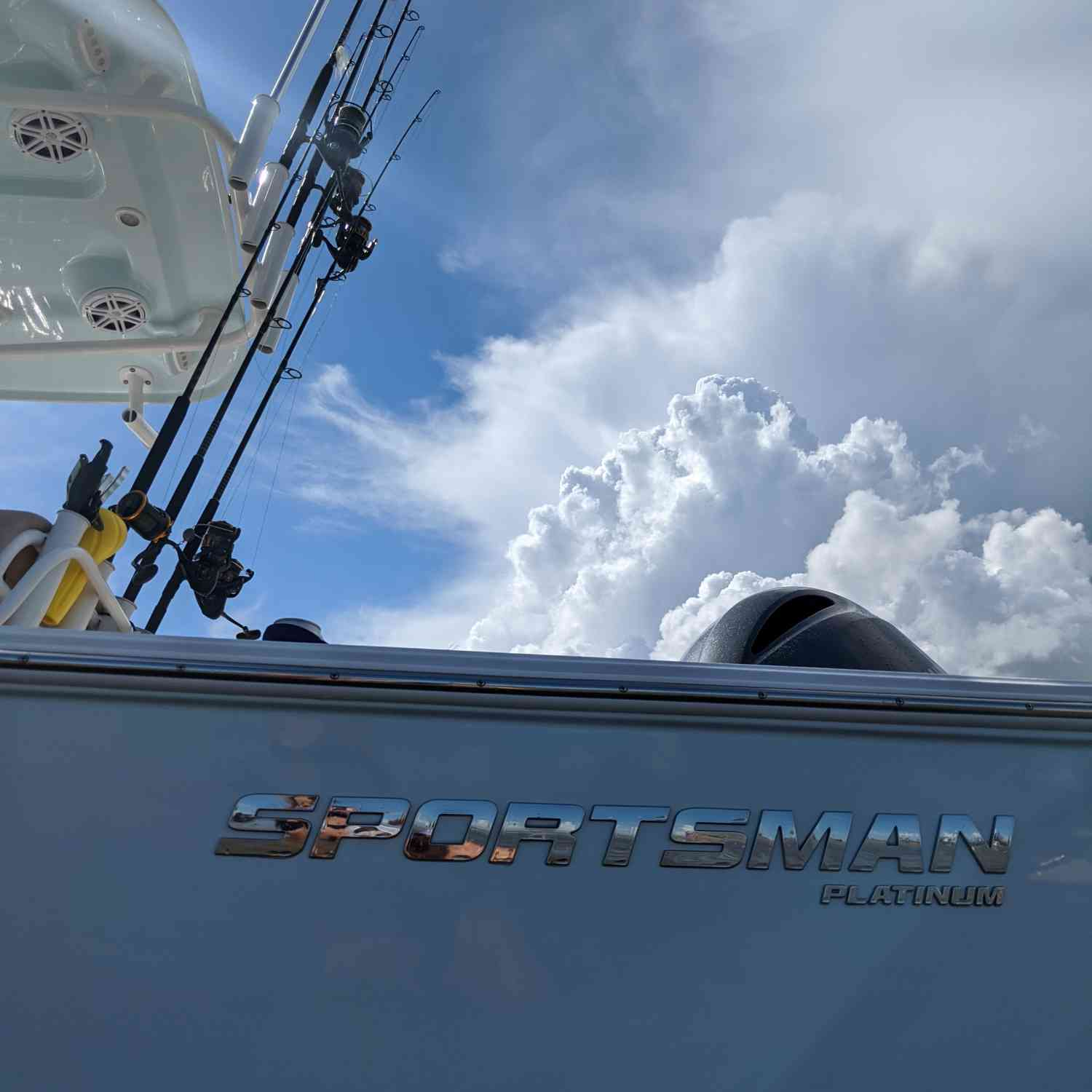 Title: Storms a'comin - On board their Sportsman Masters 227 Bay Boat - Location: Fort Sumter. Participating in the Photo Contest #SportsmanAugust2020