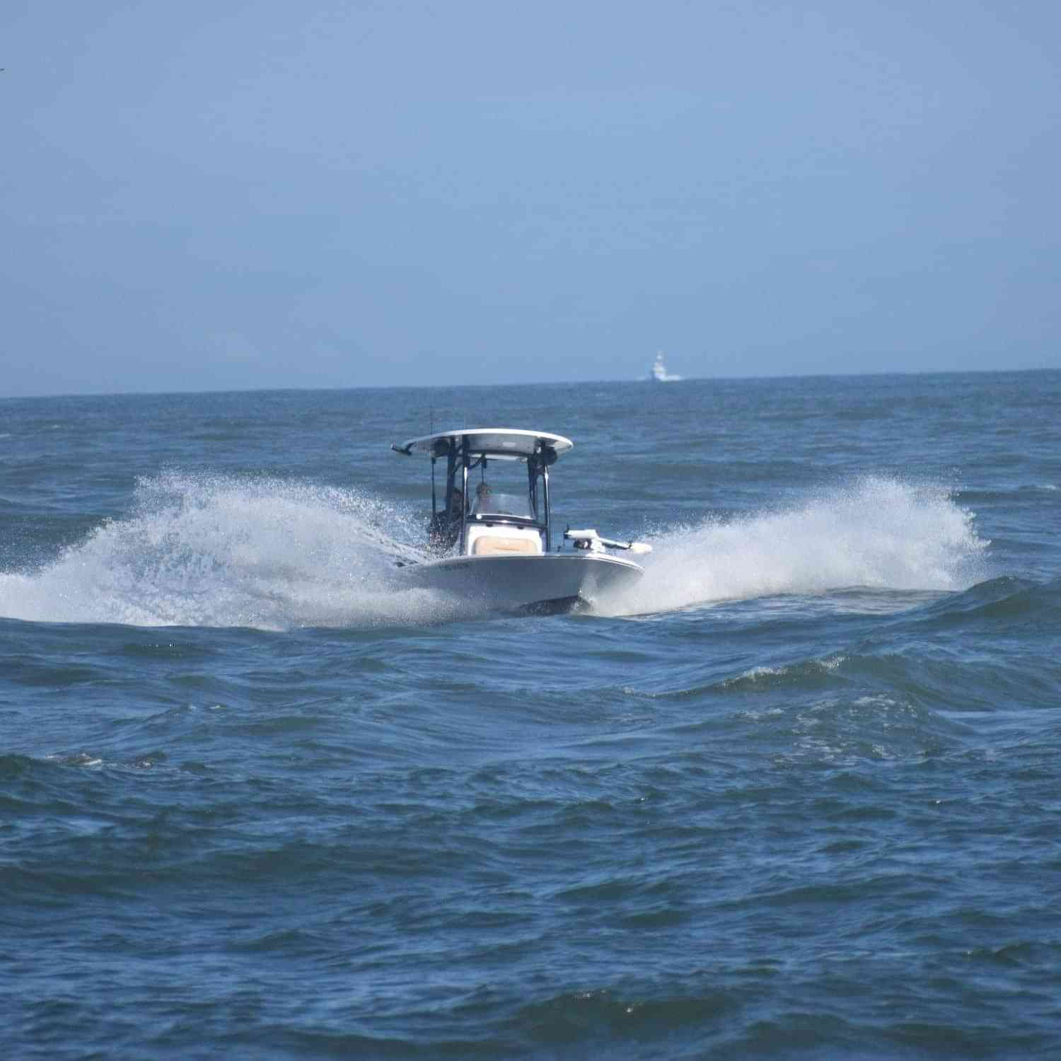 Title: OC inlet during the WMO - On board their Sportsman Masters 227 Bay Boat - Location: Ocean City Md. Participating in the Photo Contest #SportsmanAugust2020