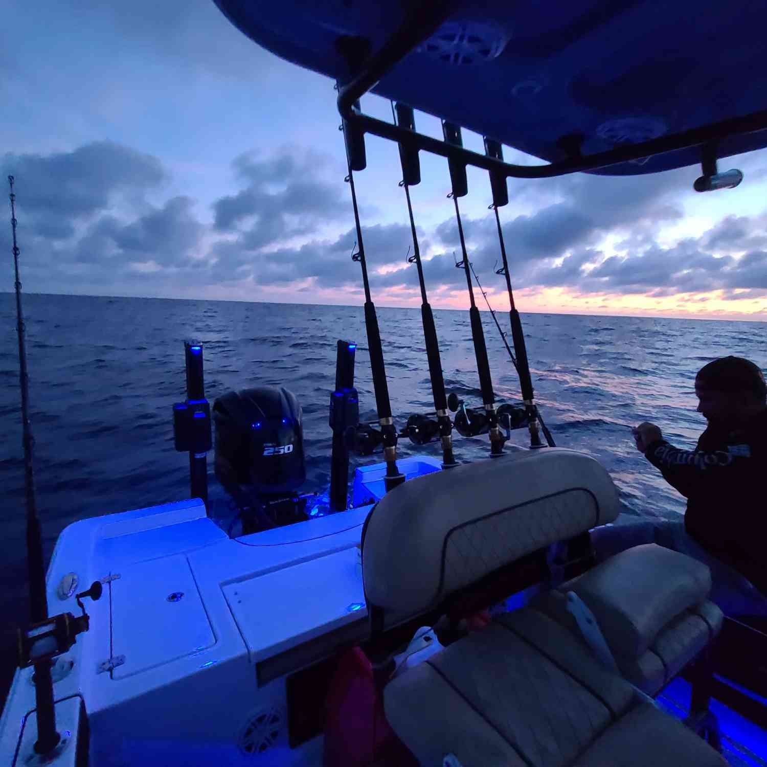 Title: 50 miles offshore - On board their Sportsman Masters 227 Bay Boat - Location: East of the Hot Dog. Participating in the Photo Contest #SportsmanAugust2020
