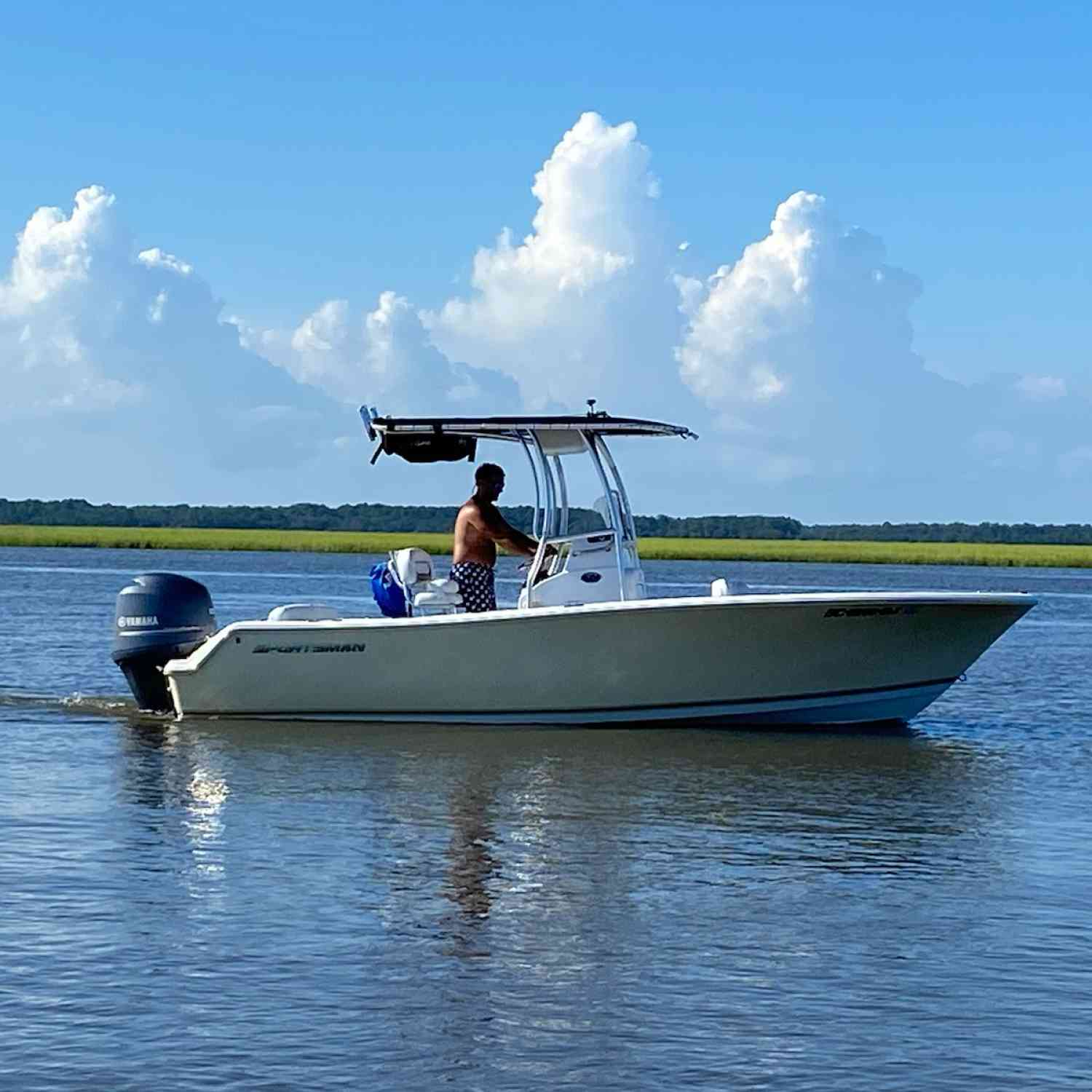 Title: Loading it up - On board their Sportsman Heritage 211 Center Console - Location: Steamboat Landing, Edisto Island, SC. Participating in the Photo Contest #SportsmanAugust2020