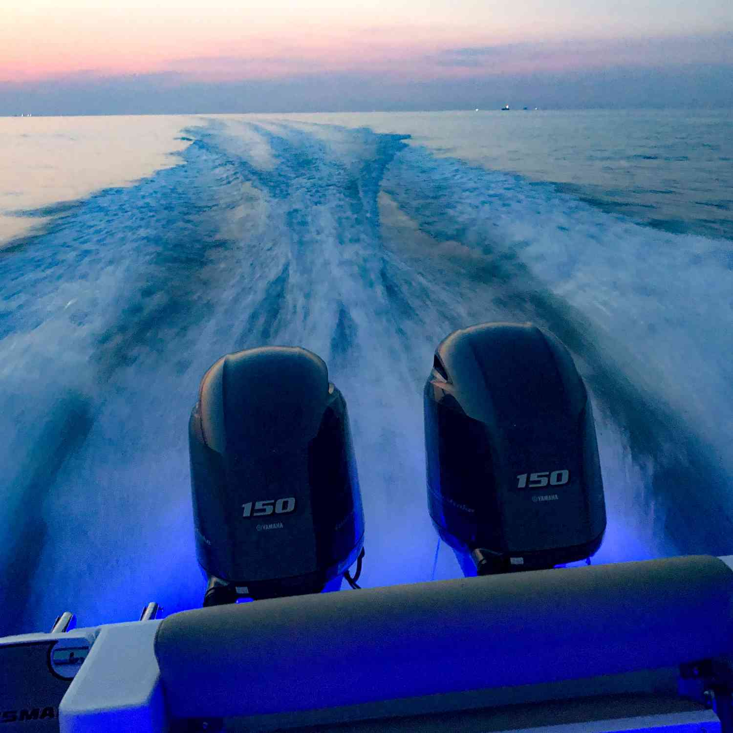 Title: Date night - On board their Sportsman Open 252 Center Console - Location: Atlantic Ocean Virginia Beach. Participating in the Photo Contest #SportsmanDecember2020