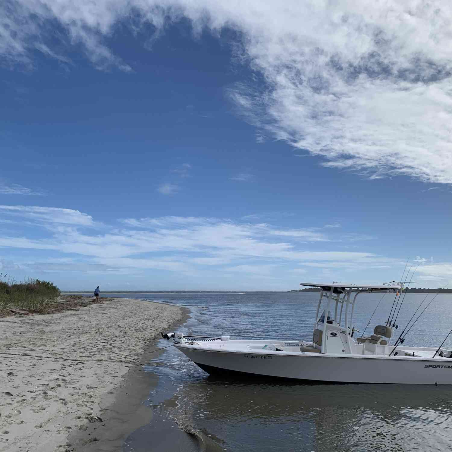Title: Happy Thanksgiving! - On board their Sportsman Masters 247 Bay Boat - Location: Morris island, SC. Participating in the Photo Contest #SportsmanDecember2020