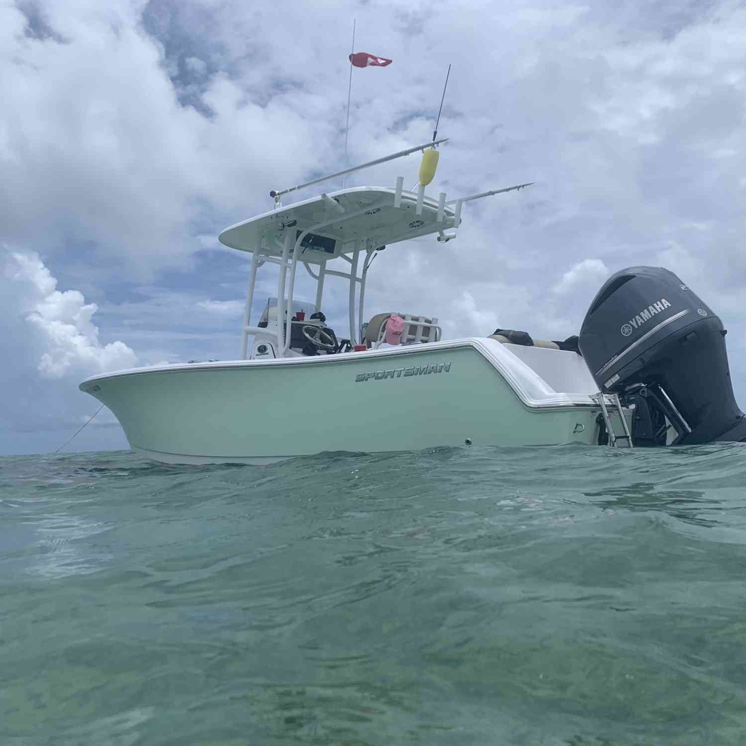 Title: Sportsman 232 sitting  pretty - On board their Sportsman Open 232 Center Console - Location: Key largo. Participating in the Photo Contest #SportsmanDecember2020