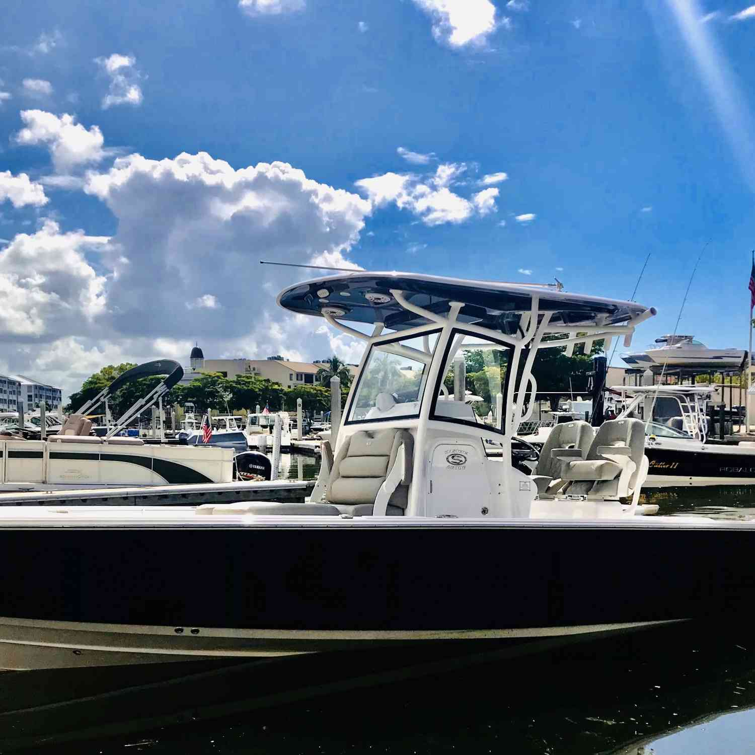 Title: Staycation - On board their Sportsman Masters 267OE Bay Boat - Location: FishTail Marina. Participating in the Photo Contest #SportsmanDecember2020