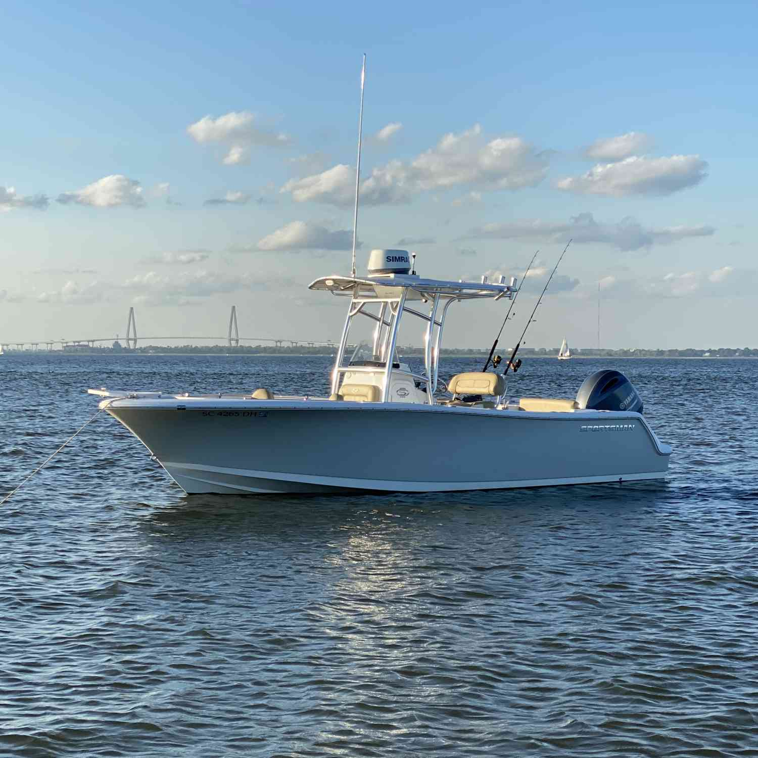 Title: Sportsman Sunday - On board their Sportsman Open 232 Center Console - Location: No Name Beach, Charleston Harbor,. Participating in the Photo Contest #SportsmanDecember2020