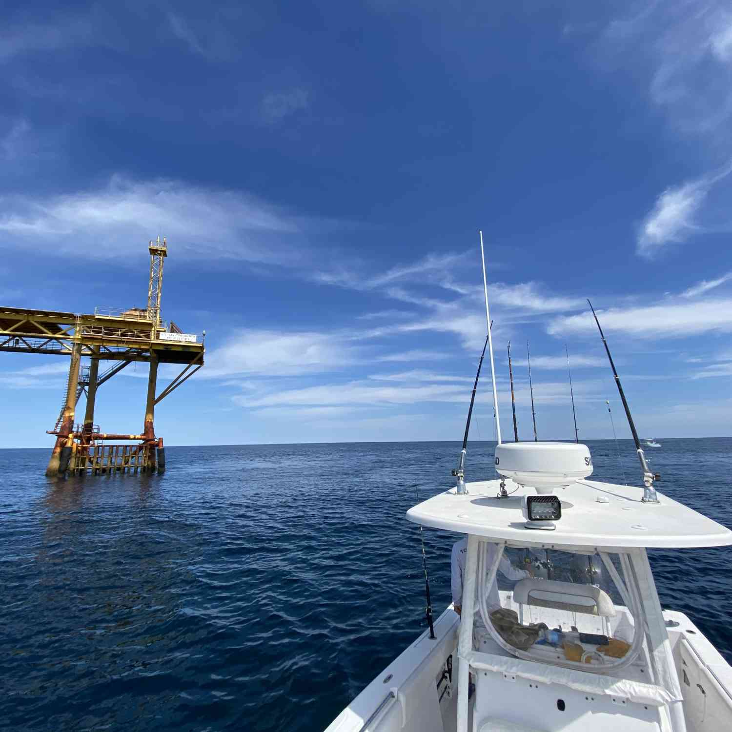 Title: Gulf Stream Trips! - On board their Sportsman Open 252 Center Console - Location: R-6 navy tower. Participating in the Photo Contest #SportsmanDecember2020