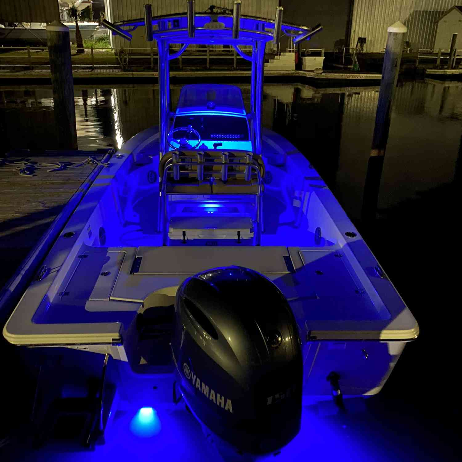 Title: Lit up - On board their Sportsman Masters 227 Bay Boat - Location: Atlantic beach NC. Participating in the Photo Contest #SportsmanDecember2020