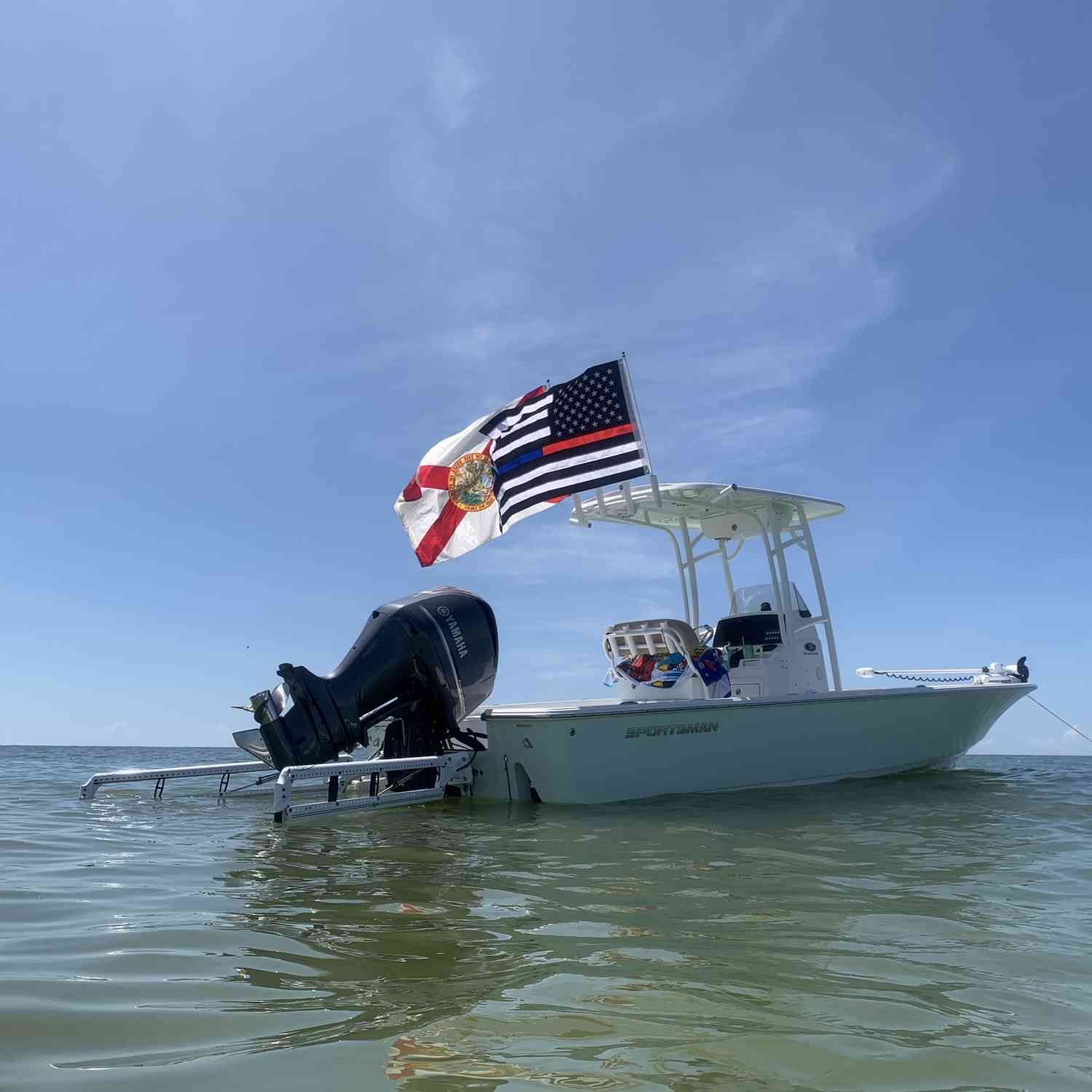 Title: Saturdaze - On board their Sportsman Masters 247 Bay Boat - Location: Cayo Costa, Florida. Participating in the Photo Contest #SportsmanDecember2020