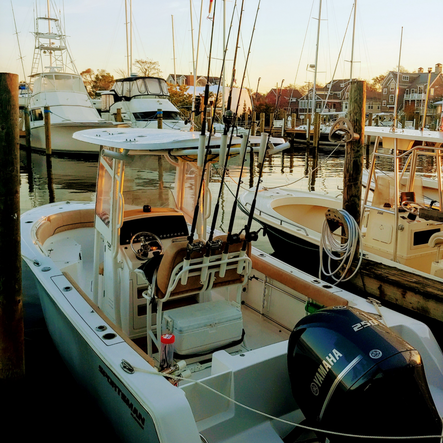 Title: Morning Assault - On board their Sportsman Open 232 Center Console - Location: Point Pleasant NJ. Participating in the Photo Contest #SportsmanDecember2020