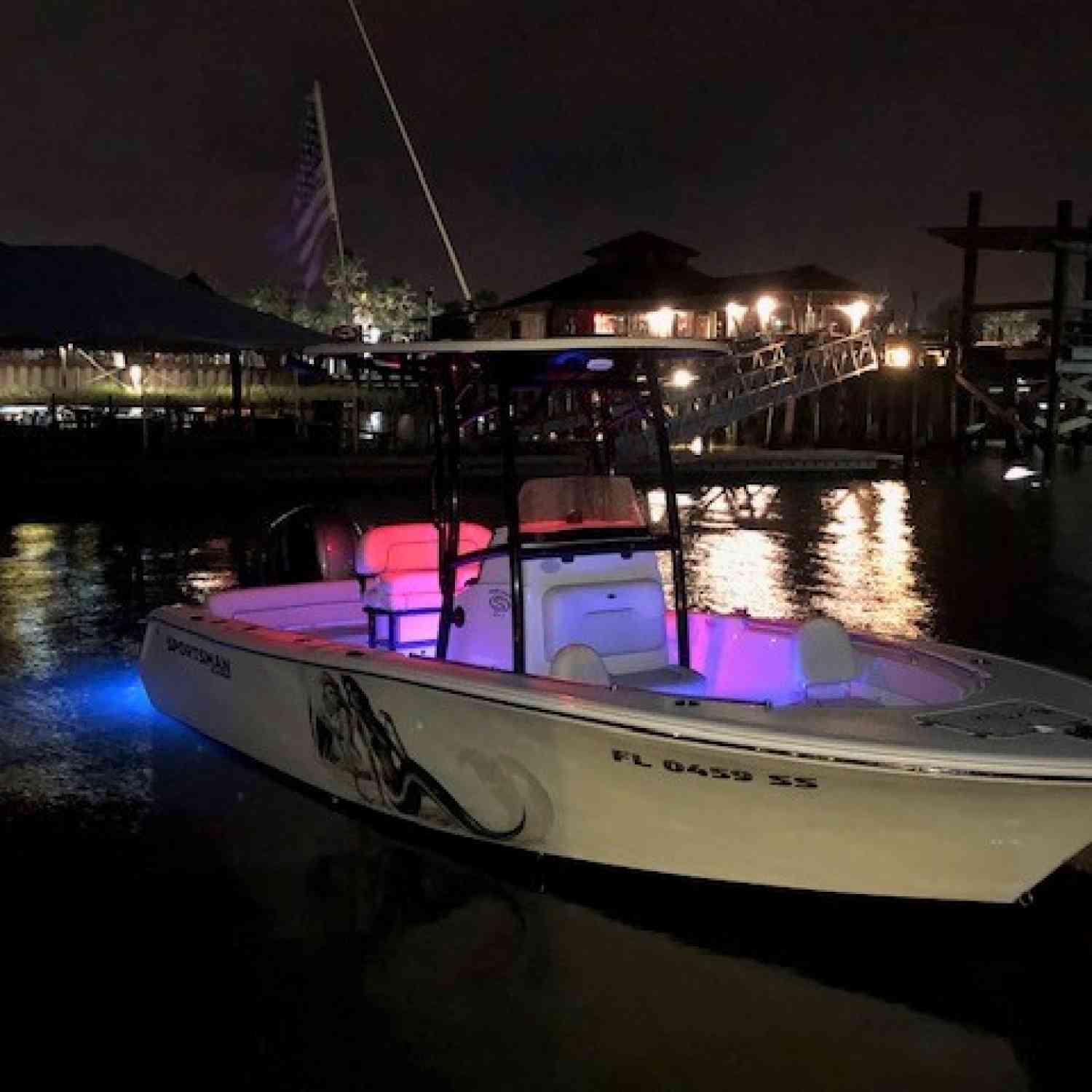Title: Night Life - On board their Sportsman Heritage 211 Center Console - Location: St Augustine Fl.. Participating in the Photo Contest #SportsmanDecember2020
