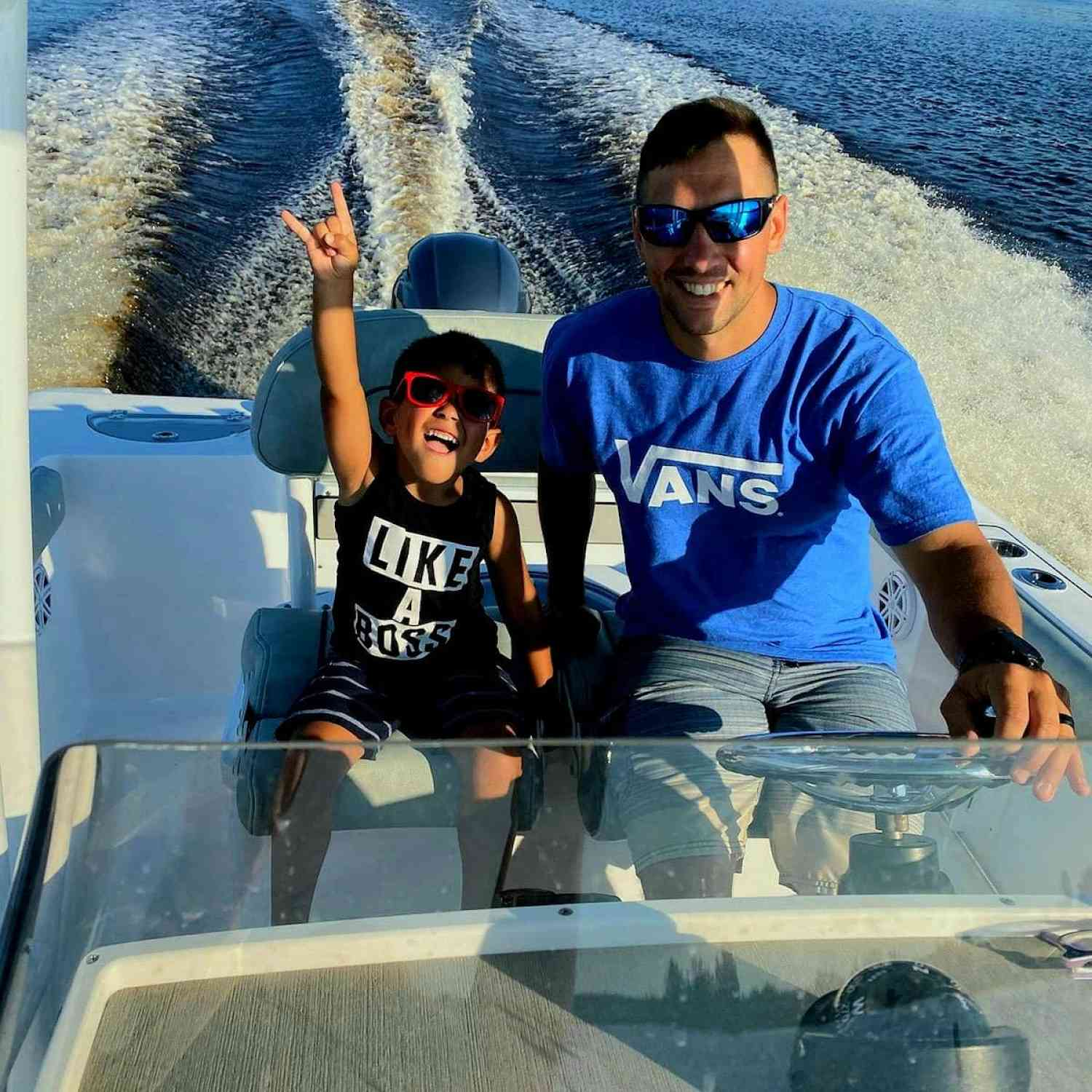 Title: Family Cruise - On board their Sportsman Open 232 Center Console - Location: Greenbank, NJ. Participating in the Photo Contest #SportsmanDecember2020