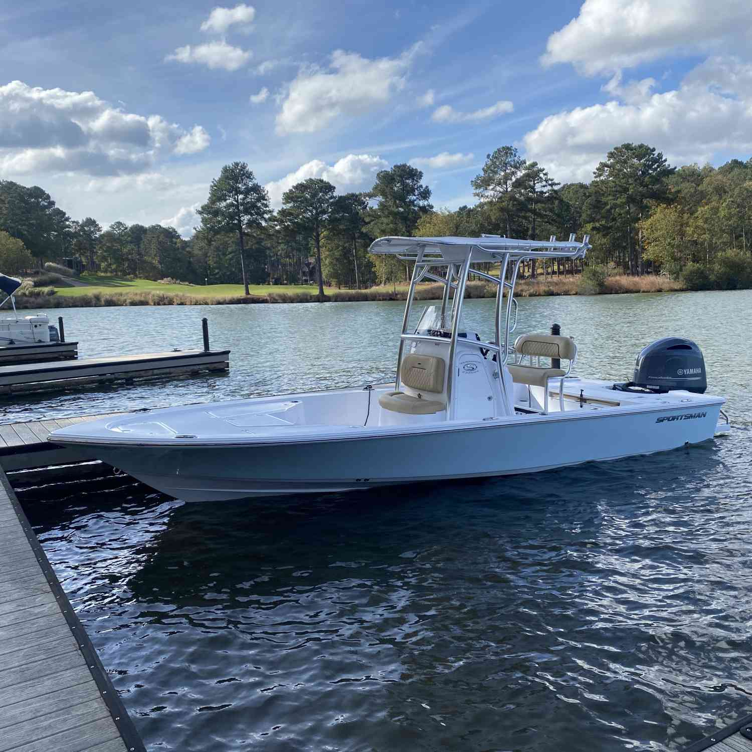 Title: First ride in the new 234 SBX - On board their Sportsman Tournament 234 SBX Bay Boat - Location: Lake Oconee. Participating in the Photo Contest #SportsmanDecember2020