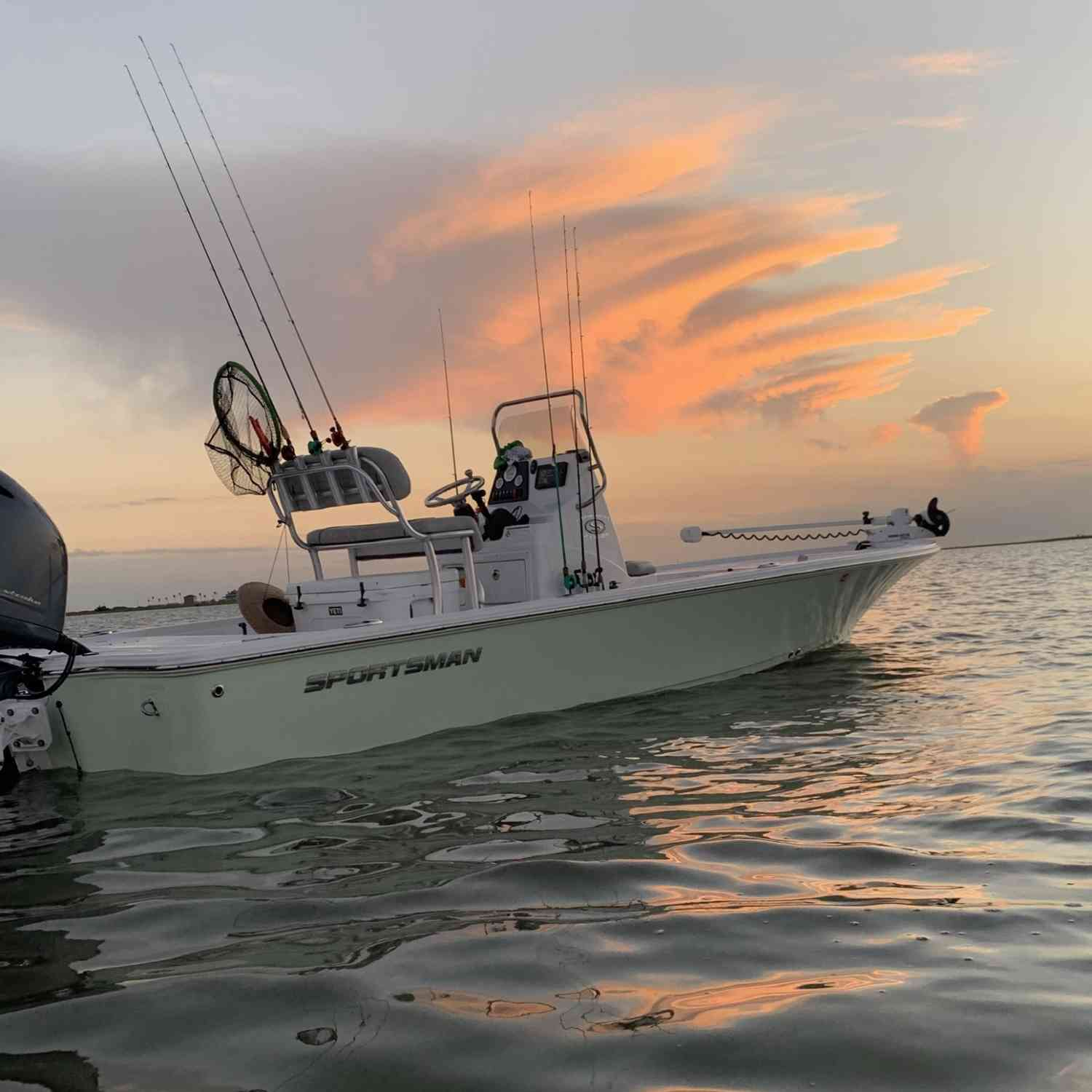 Title: Sunset Dreaming... - On board their Sportsman Tournament 214 SBX Bay Boat - Location: Freeport, Tx. Participating in the Photo Contest #SportsmanDecember2020