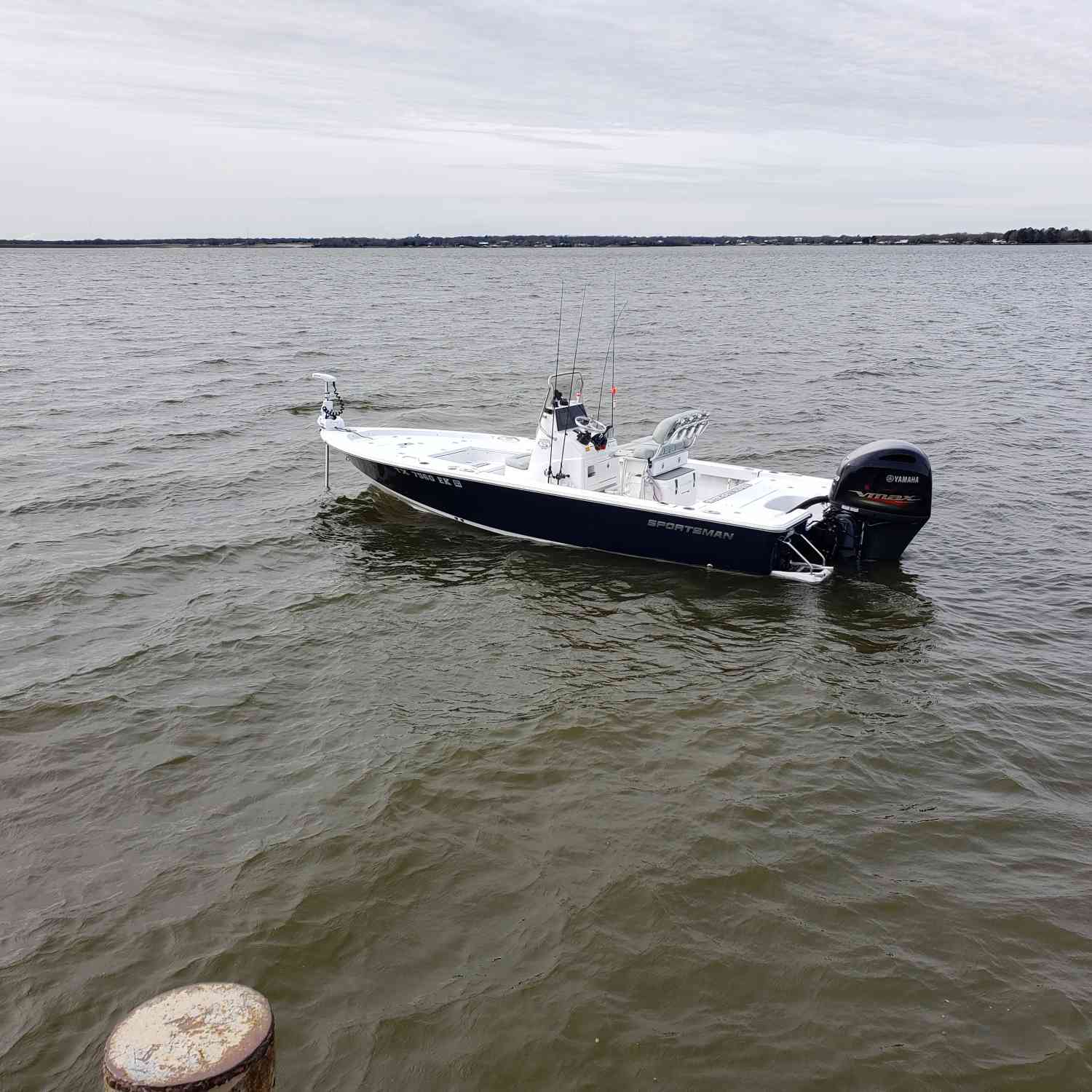 Title: Love this boat!! - On board their Sportsman Masters 207 Bay Boat - Location: Lake Limestone, Texas. Participating in the Photo Contest #SportsmanFebruary2020