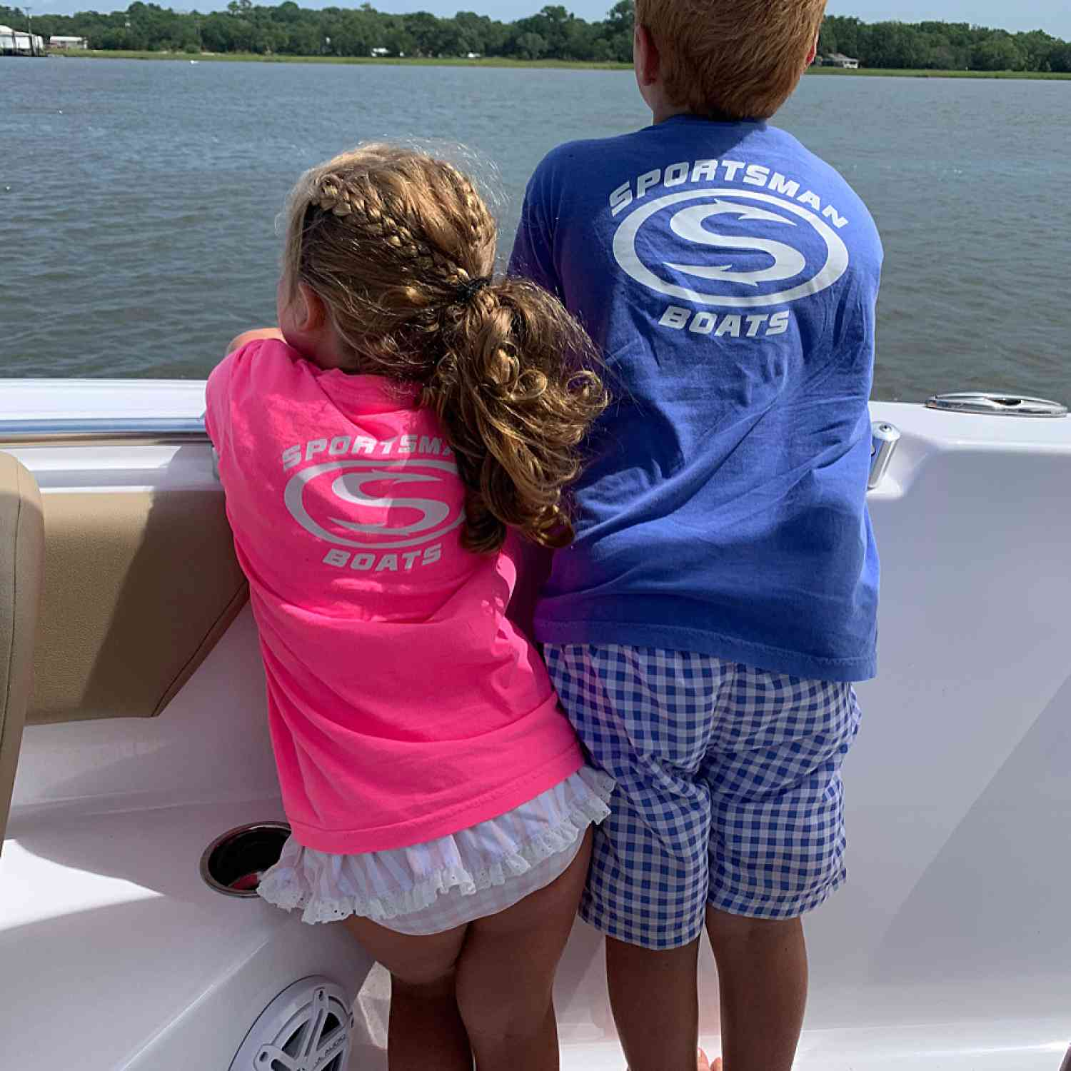 Title: Sportsman Family - On board their Sportsman Open 232 Center Console - Location: Charleston, SC. Participating in the Photo Contest #SportsmanJuly2020