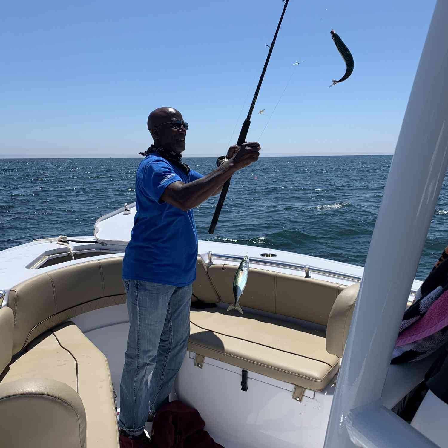 Title: Holy Mackerel ! - On board their Sportsman Open 232 Center Console - Location: Kennebunkport, Maine. Participating in the Photo Contest #SportsmanJuly2020