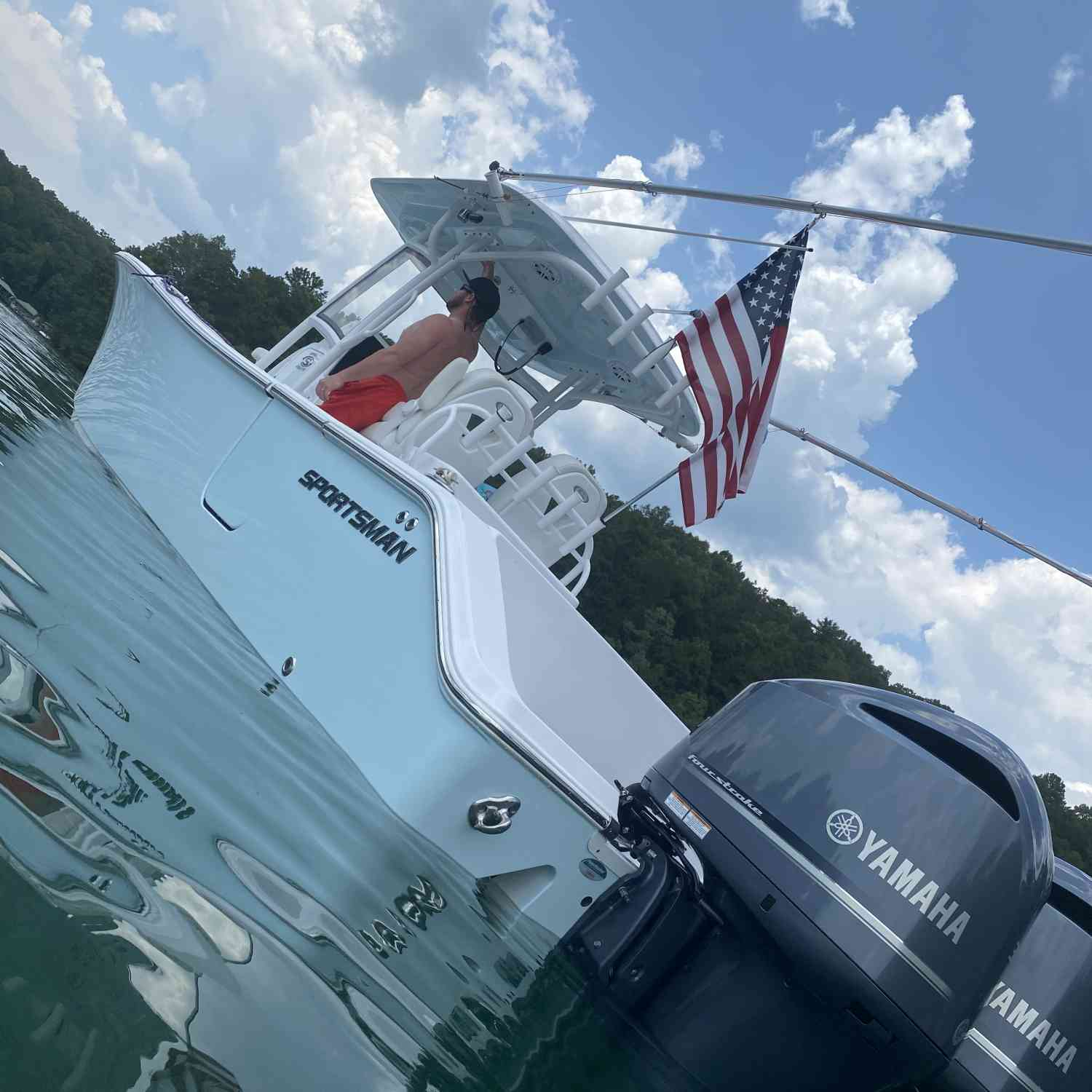 Title: Lake life on the sportsman - On board their Sportsman Open 282 Center Console - Location: Lake Keowee. Participating in the Photo Contest #SportsmanJuly2020