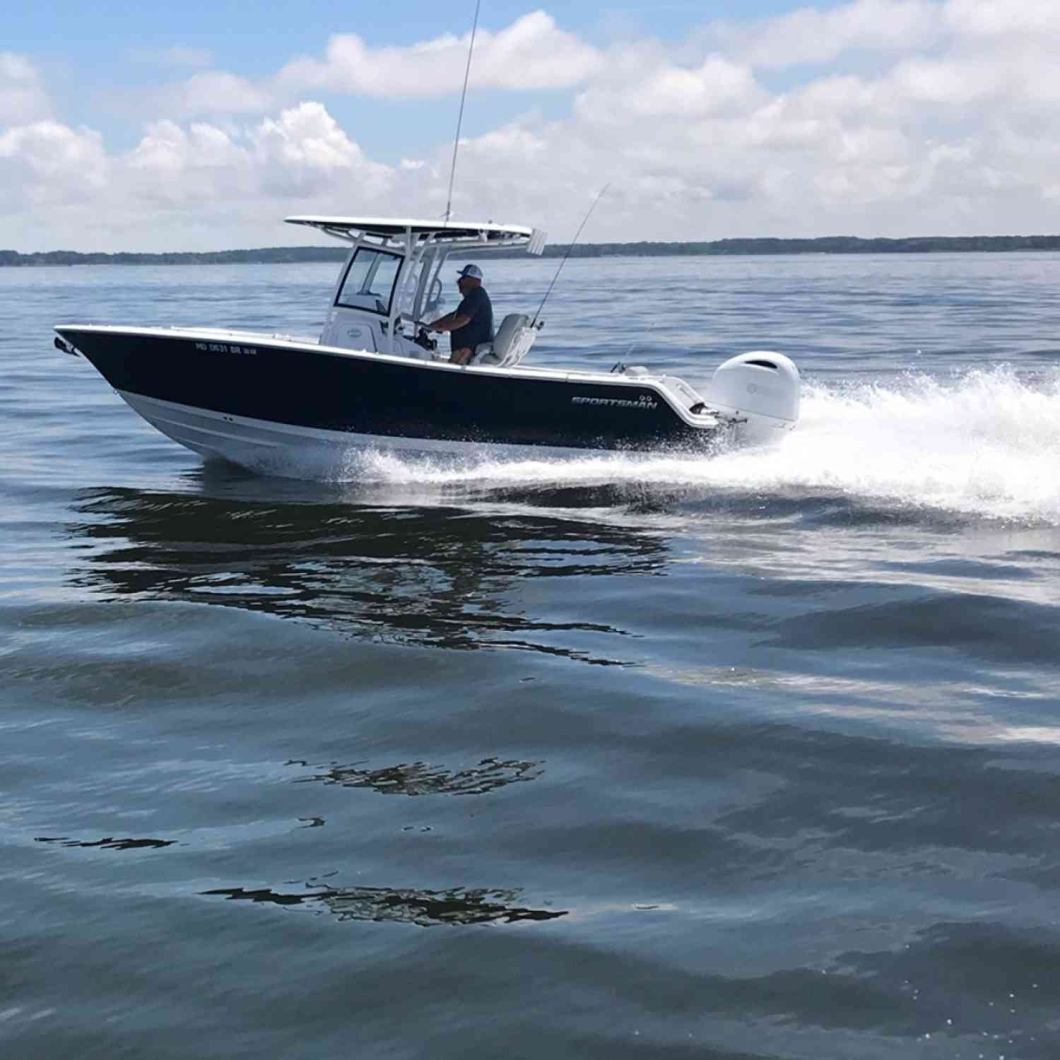 Title: Fathers day cruzing - On board their Sportsman Open 252 Center Console - Location: Kent island , Md.. Participating in the Photo Contest #SportsmanJuly2020