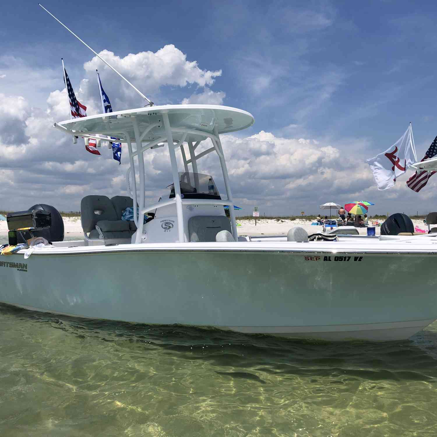 Title: Beach - On board their Sportsman Heritage 211 Center Console - Location: Orange beach al. Participating in the Photo Contest #SportsmanJuly2020