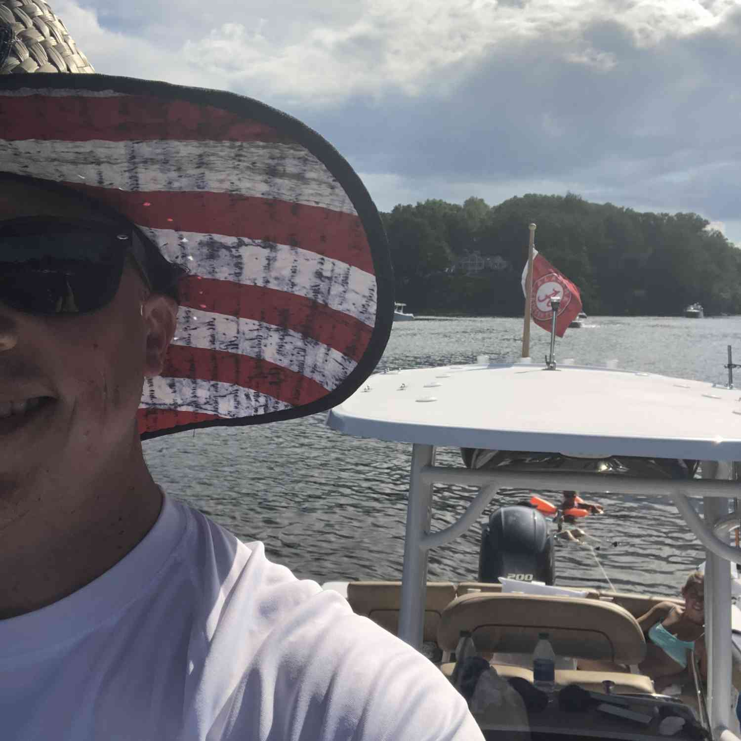Title: Roll Tide USA - On board their Sportsman Heritage 231 Center Console - Location: Clements Creek, Annapolis. Participating in the Photo Contest #SportsmanJuly2020