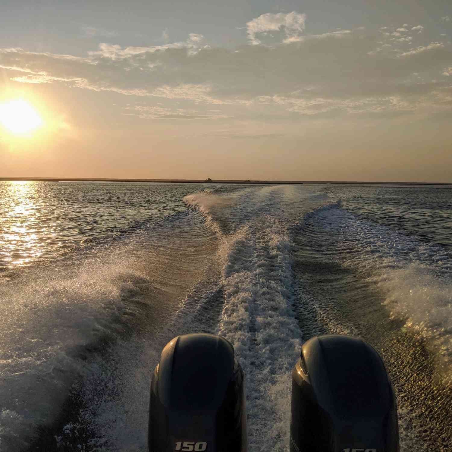 Title: Away From It All - On board their Sportsman Open 252 Center Console - Location: Somers Point NJ. Participating in the Photo Contest #SportsmanJuly2020