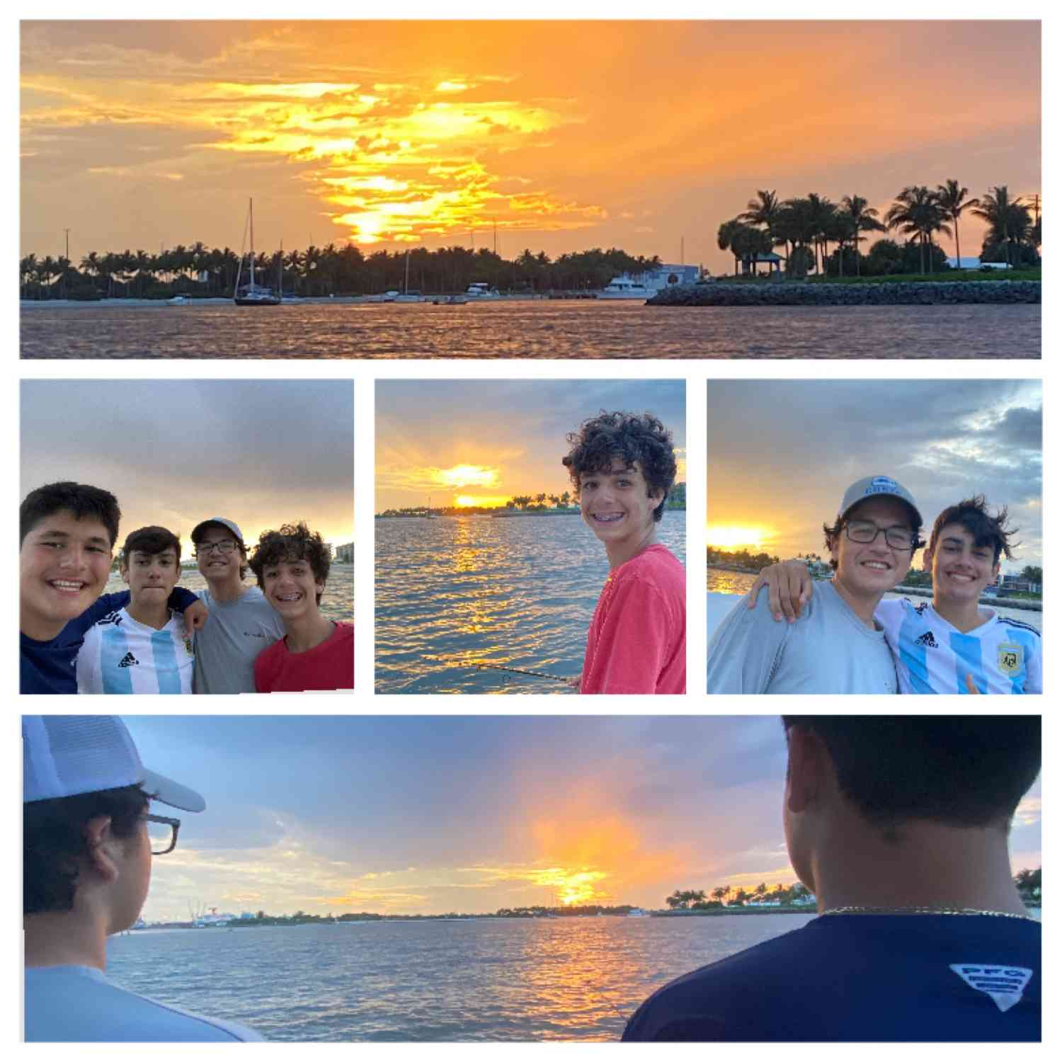 Title: Sunset fishing with my Boys~ - On board their Sportsman Open 232 Center Console - Location: West Palm Beach. Participating in the Photo Contest #SportsmanJuly2020