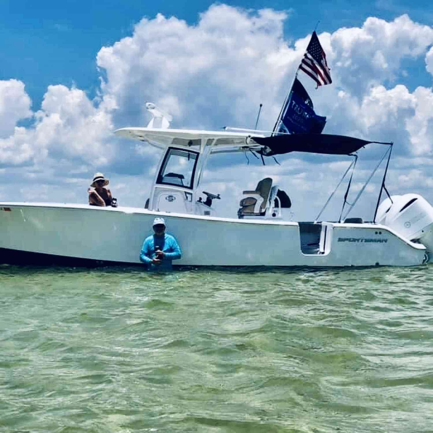 Title: Family day - On board their Sportsman Open 282 Center Console - Location: Destin Florida. Participating in the Photo Contest #SportsmanJuly2020