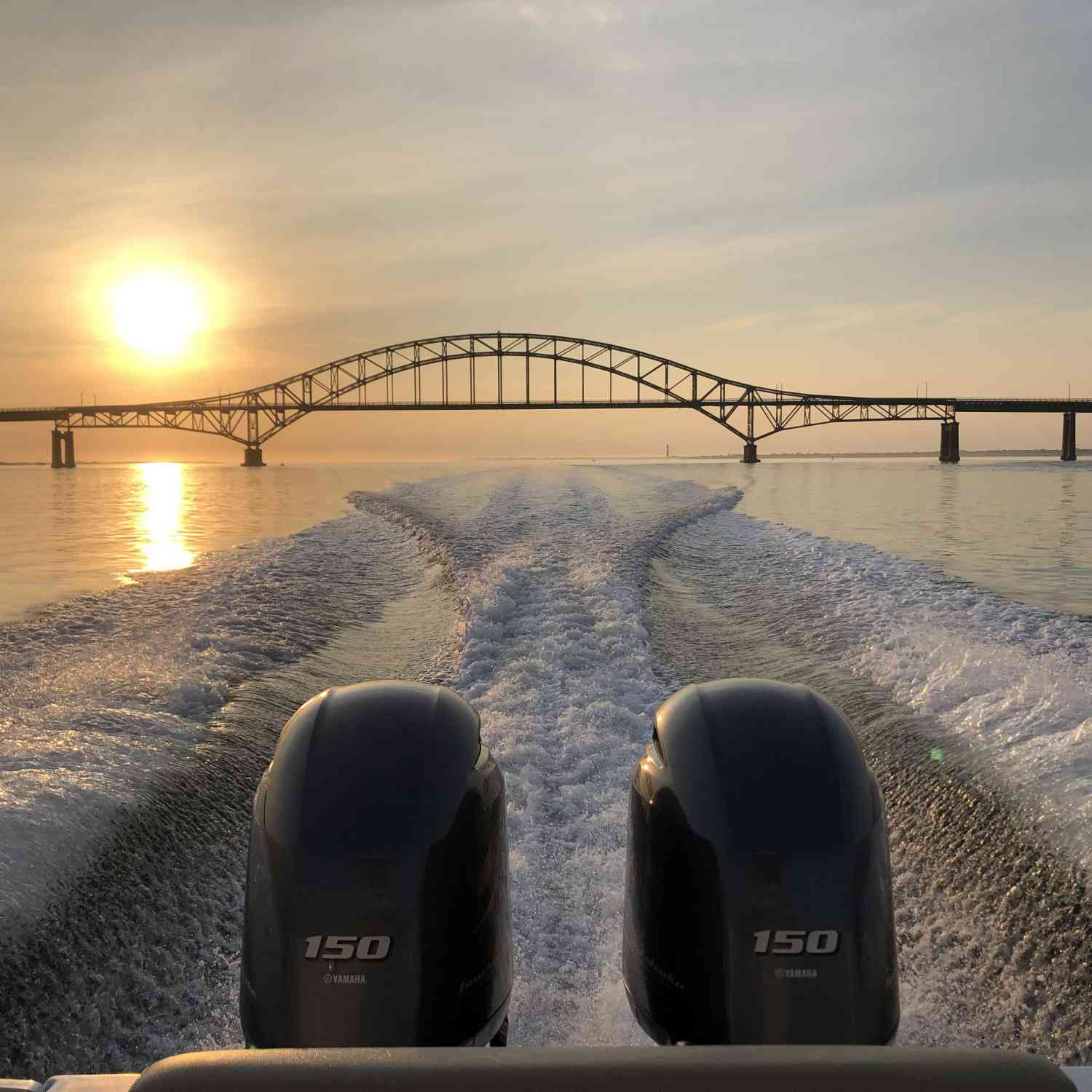 Title: Jack horodiski - On board their Sportsman Open 252 Center Console - Location: Robert Moses bridge. Participating in the Photo Contest #SportsmanJuly2020