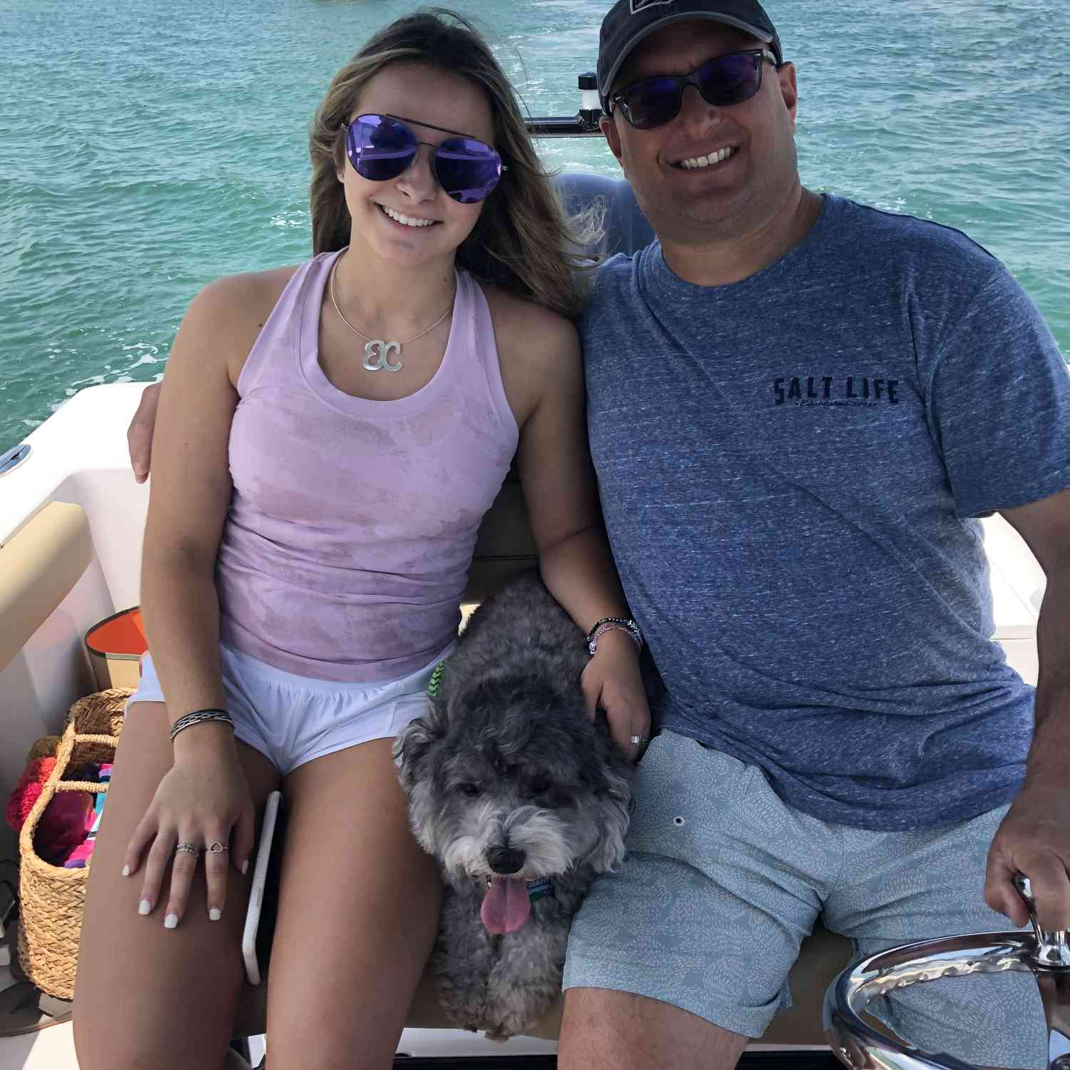 Title: Fathers Day Cruise - On board their Sportsman Open 232 Center Console - Location: Orange Breach, Al. Participating in the Photo Contest #SportsmanJuly2020