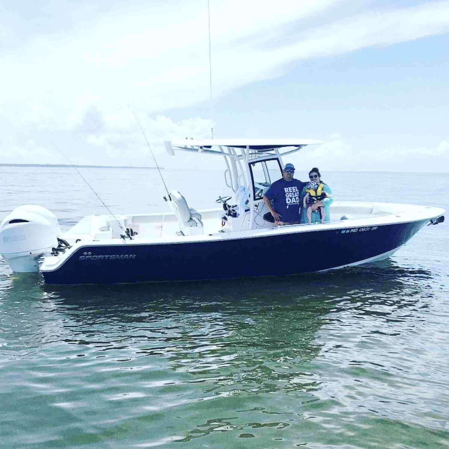Title: The Sanders go boating! - On board their Sportsman Open 252 Center Console - Location: Maryland. Participating in the Photo Contest #SportsmanJuly2020