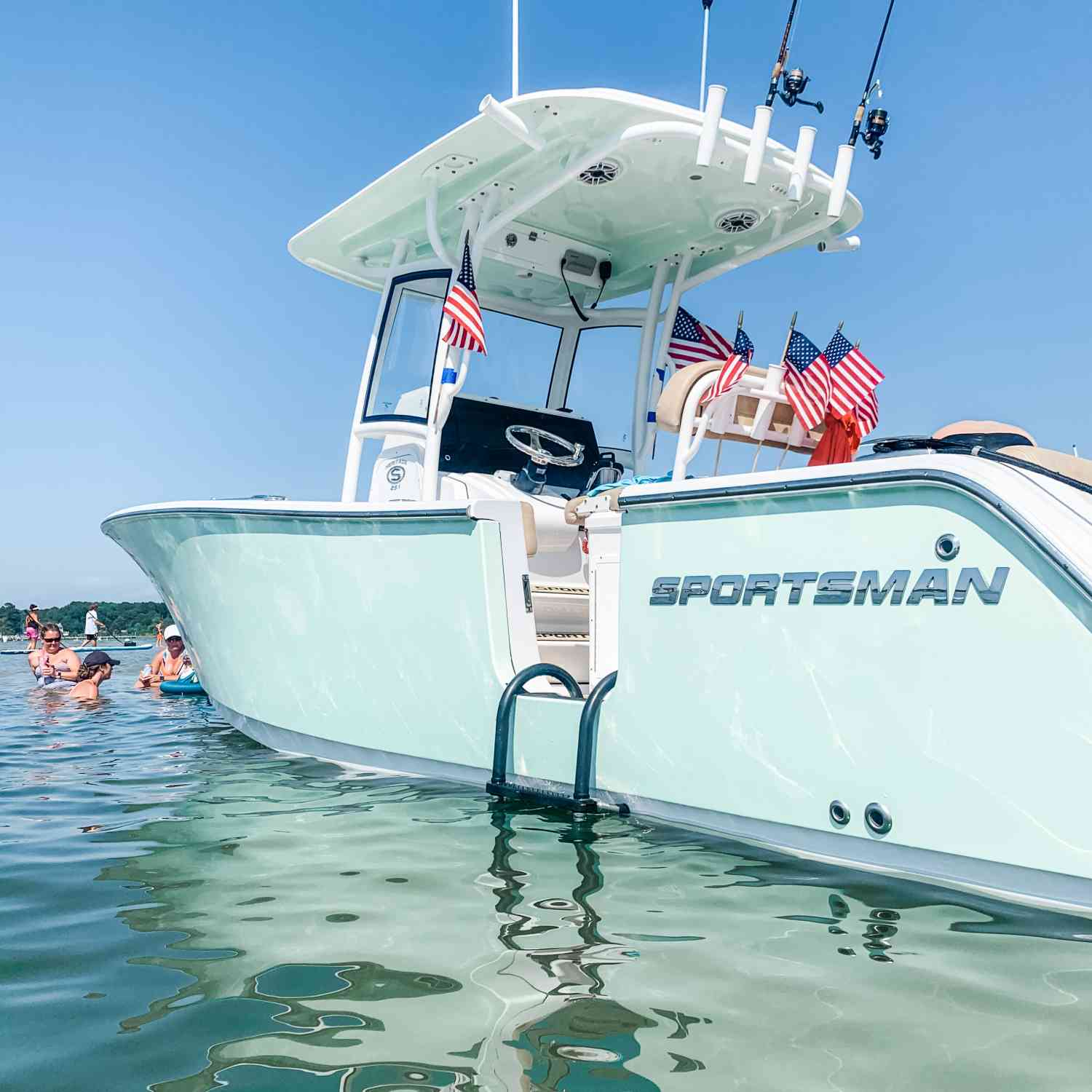 Title: Happy 4th of July from the sandbar - On board their Sportsman Heritage 251 Center Console - Location: Deltaville, Virginia. Participating in the Photo Contest #SportsmanJuly2020