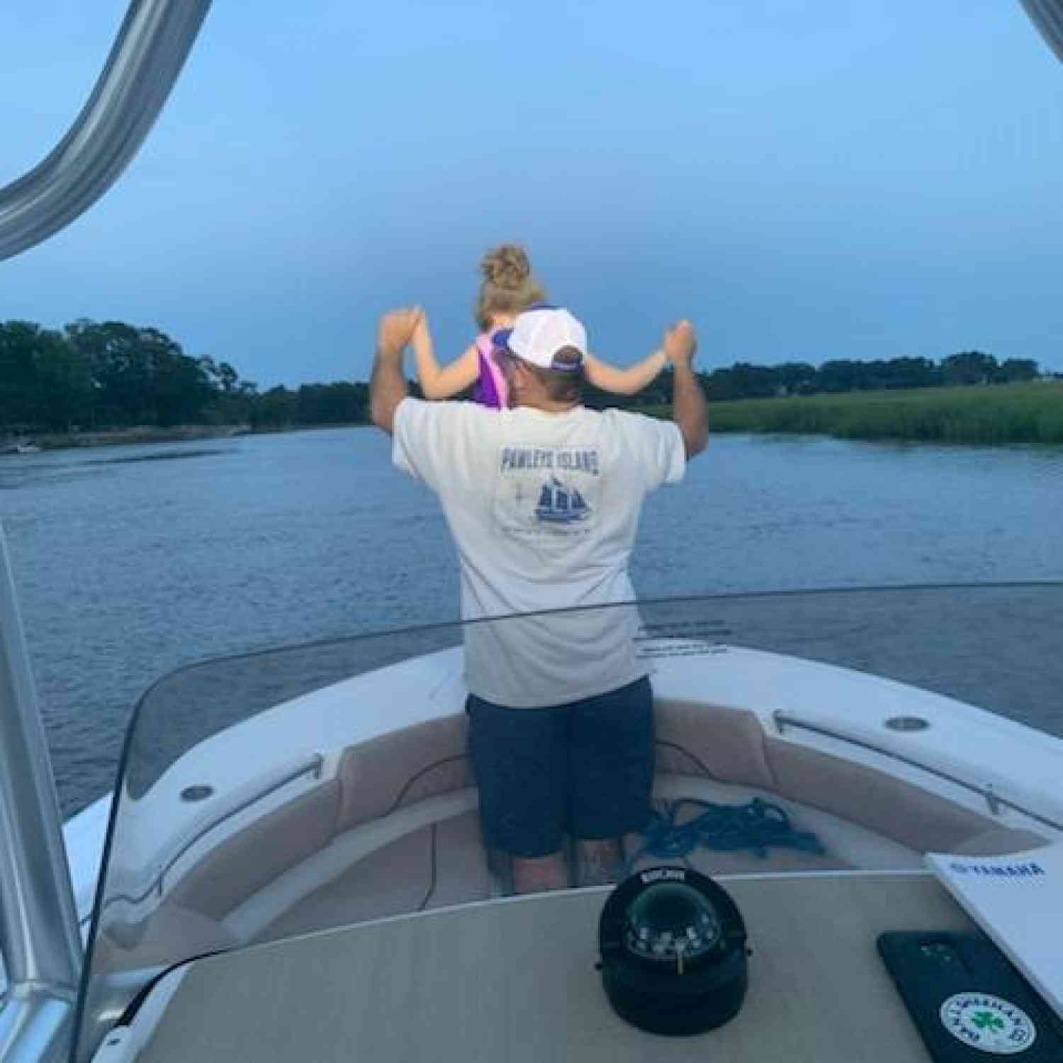 Title: I believe i can fly! - On board their Sportsman Open 212 Center Console - Location: Jerico River Richmond Hill, GA. Participating in the Photo Contest #SportsmanJuly2020