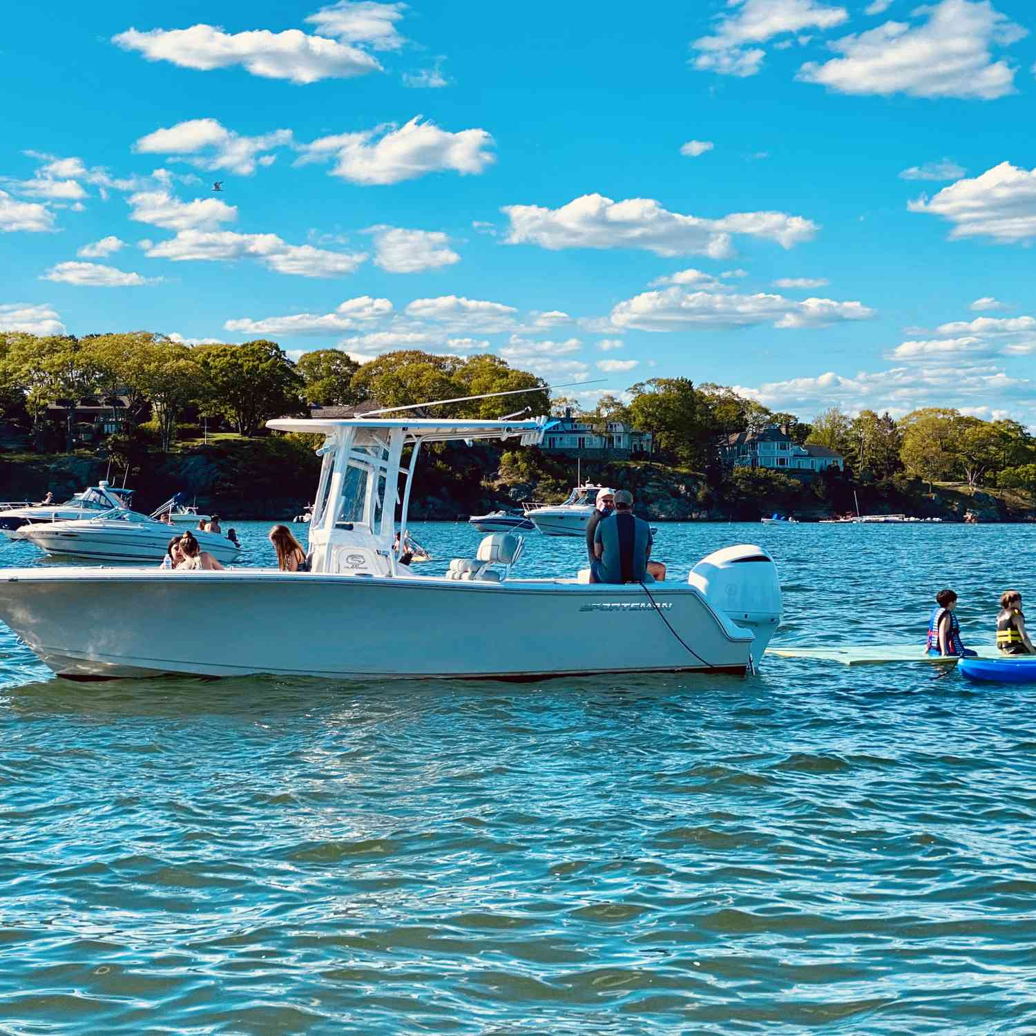 Title: Early summer fun - On board their Sportsman Heritage 231 Center Console - Location: Manchester-by-the-Sea, Massachusetts. Participating in the Photo Contest #SportsmanJune2020