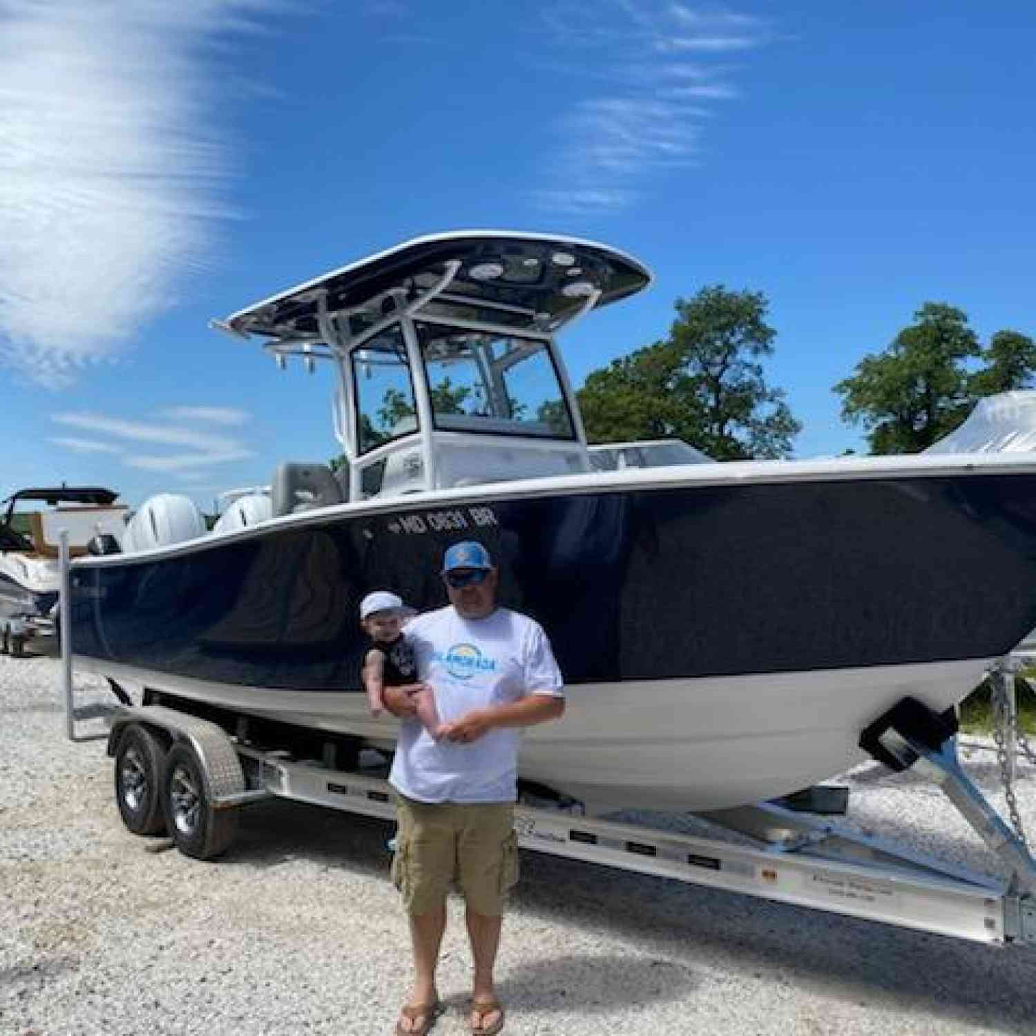 Title: Firs week home with the new boat - On board their Sportsman Open 252 Center Console - Location: Kent island ,MD. Participating in the Photo Contest #SportsmanJune2020