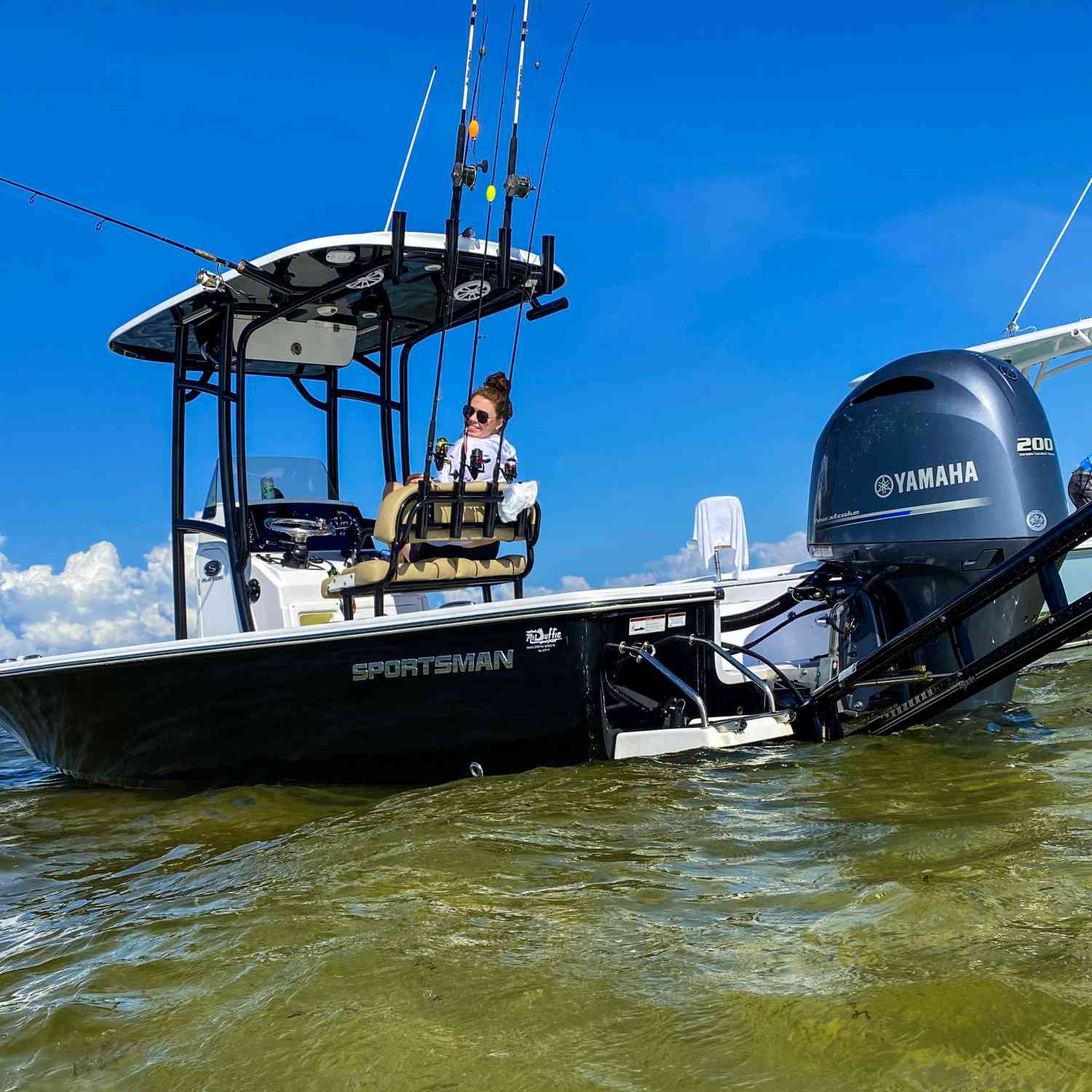 Title: Yeah it's a sportsman! - On board their Sportsman Masters 227 Bay Boat - Location: Steinhatchee. Participating in the Photo Contest #SportsmanJune2020