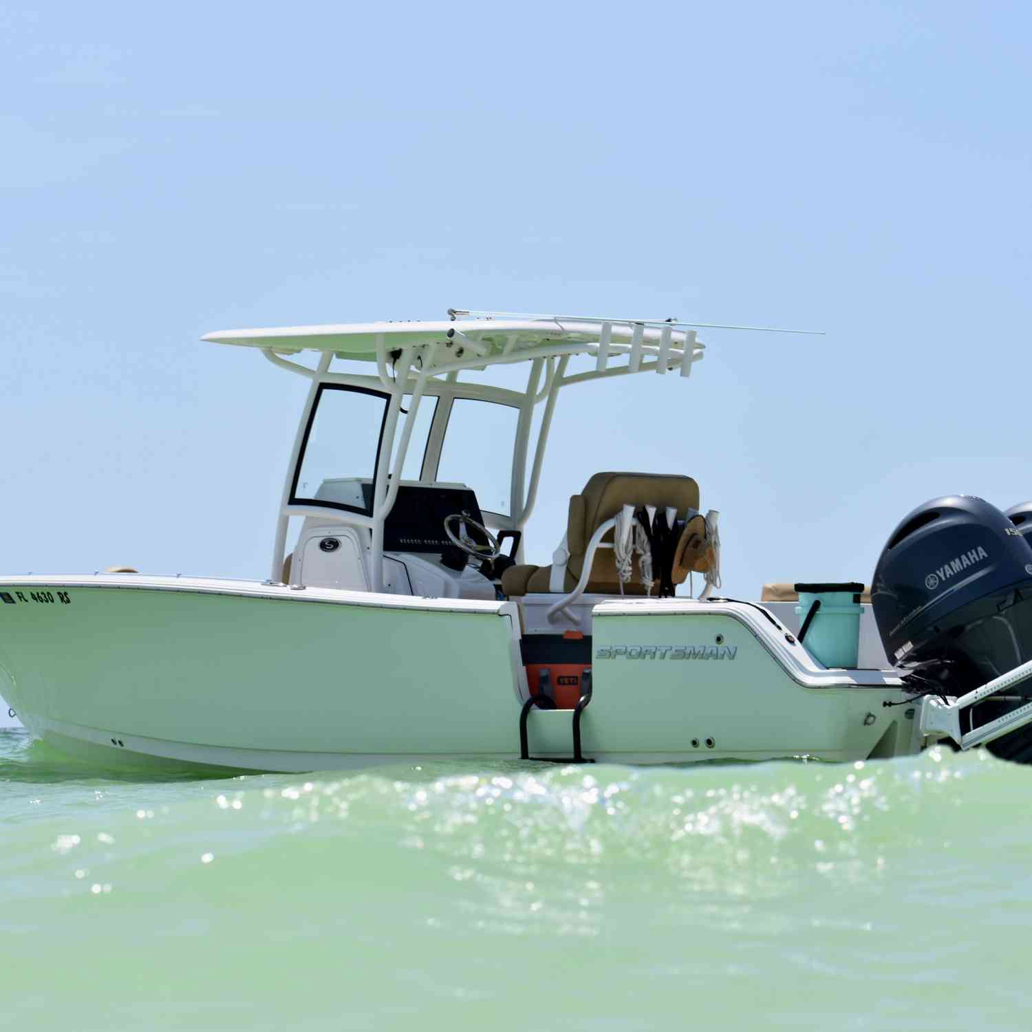 Title: Beachin - On board their Sportsman Heritage 251 Center Console - Location: Keewayden, FL. Participating in the Photo Contest #SportsmanJune2020