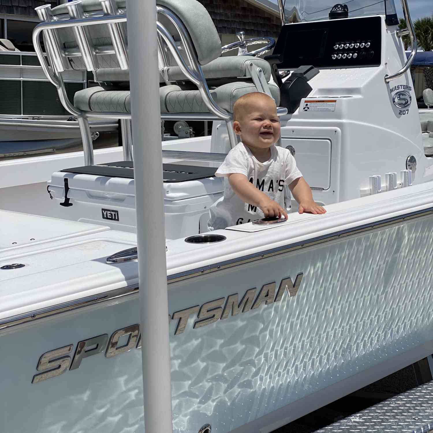 Title: Captain Becks - On board their Sportsman Masters 207 Bay Boat - Location: NSB, Fl. Participating in the Photo Contest #SportsmanJune2020