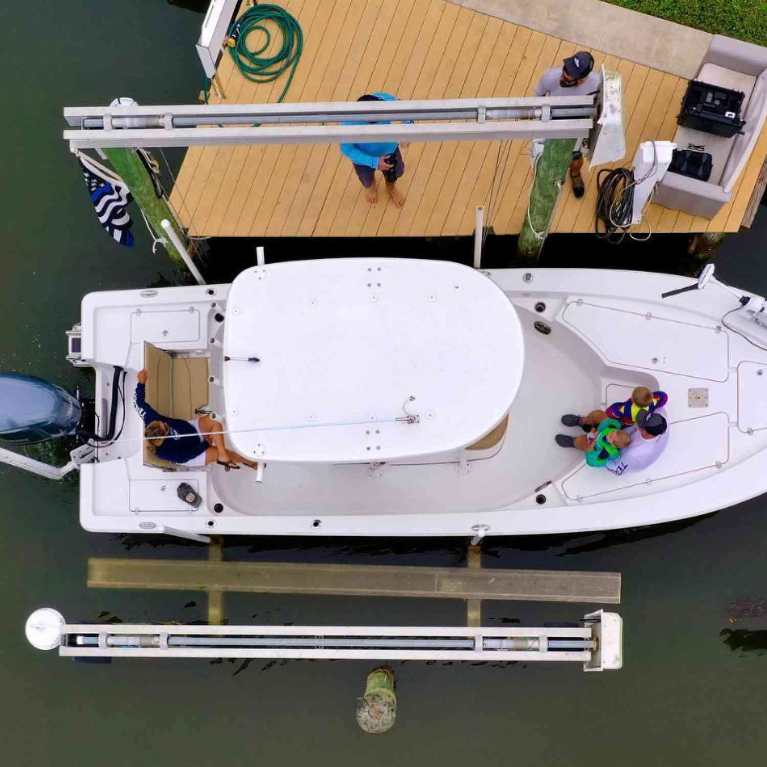 Title: Bird's view - On board their Sportsman Masters 247 Bay Boat - Location: Anna Maria, FL. Participating in the Photo Contest #SportsmanJune2020
