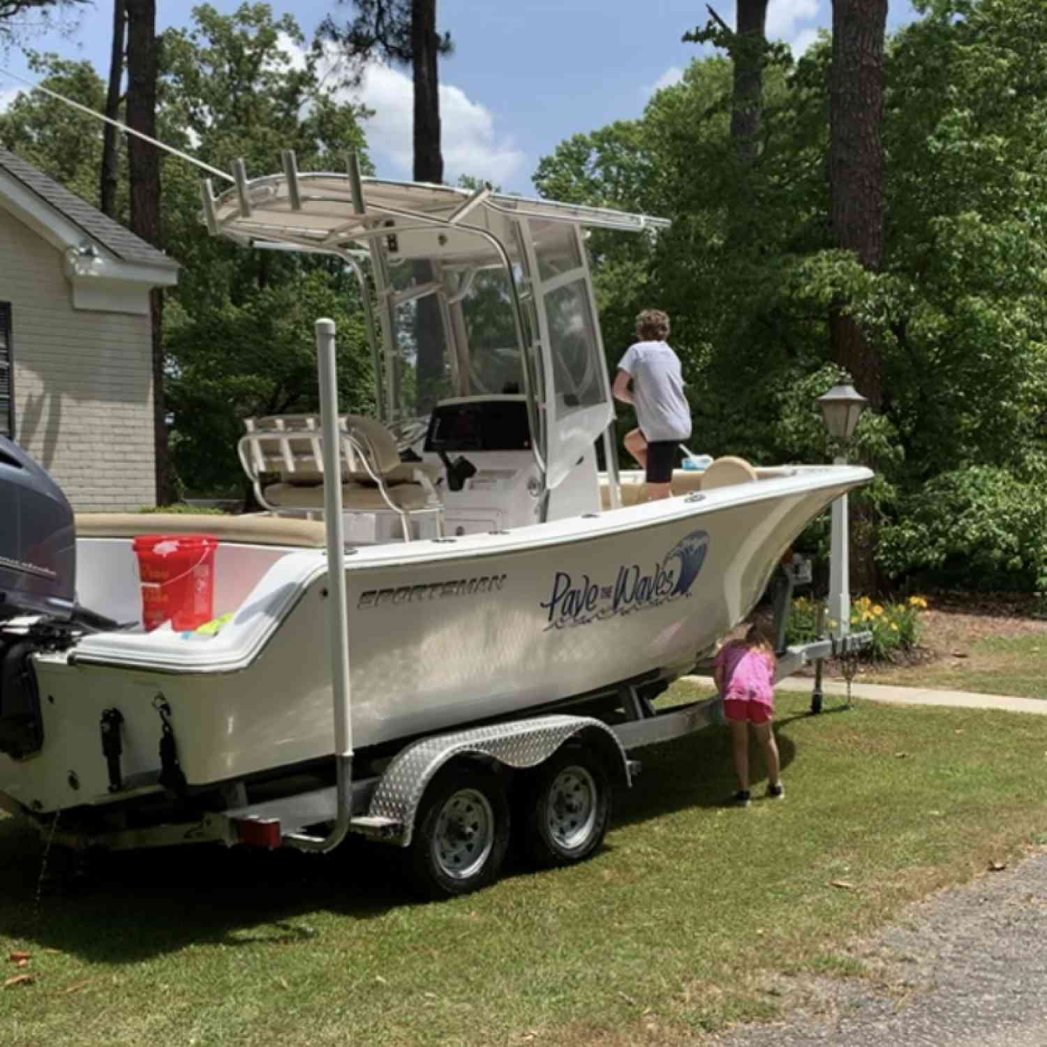 Title: Cleaning her up - On board their Sportsman Heritage 211 Center Console - Location: Snow Hill, NC. Participating in the Photo Contest #SportsmanJune2020
