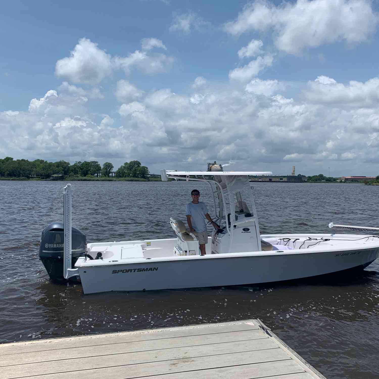 Title: Delivery Day - On board their Sportsman Masters 247 Bay Boat - Location: Georgetown, SC. Participating in the Photo Contest #SportsmanJune2020
