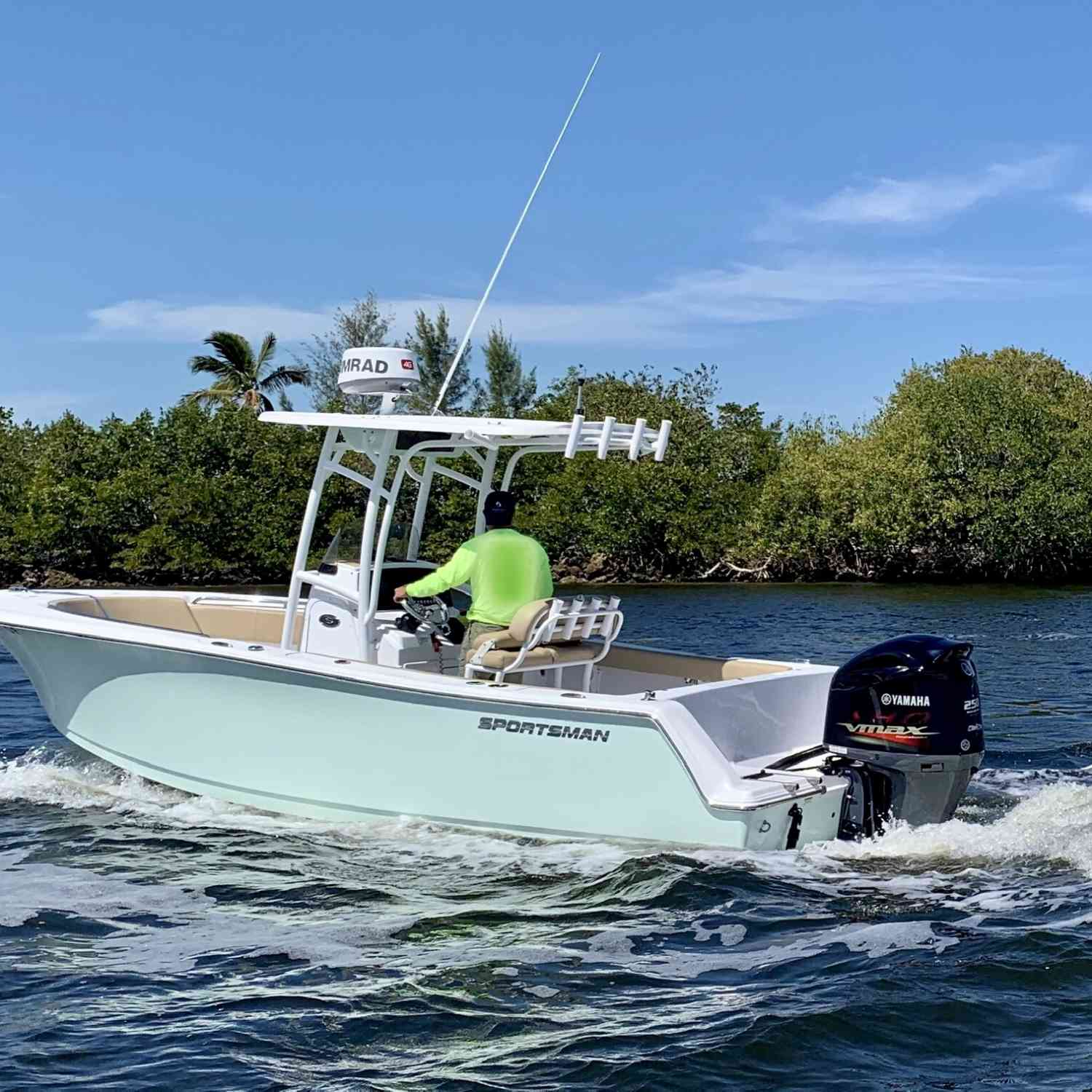 Title: Bald Eagle Sighting - On board their Sportsman Heritage 231 Center Console - Location: Sanibel, Florida. Participating in the Photo Contest #SportsmanMarch2020